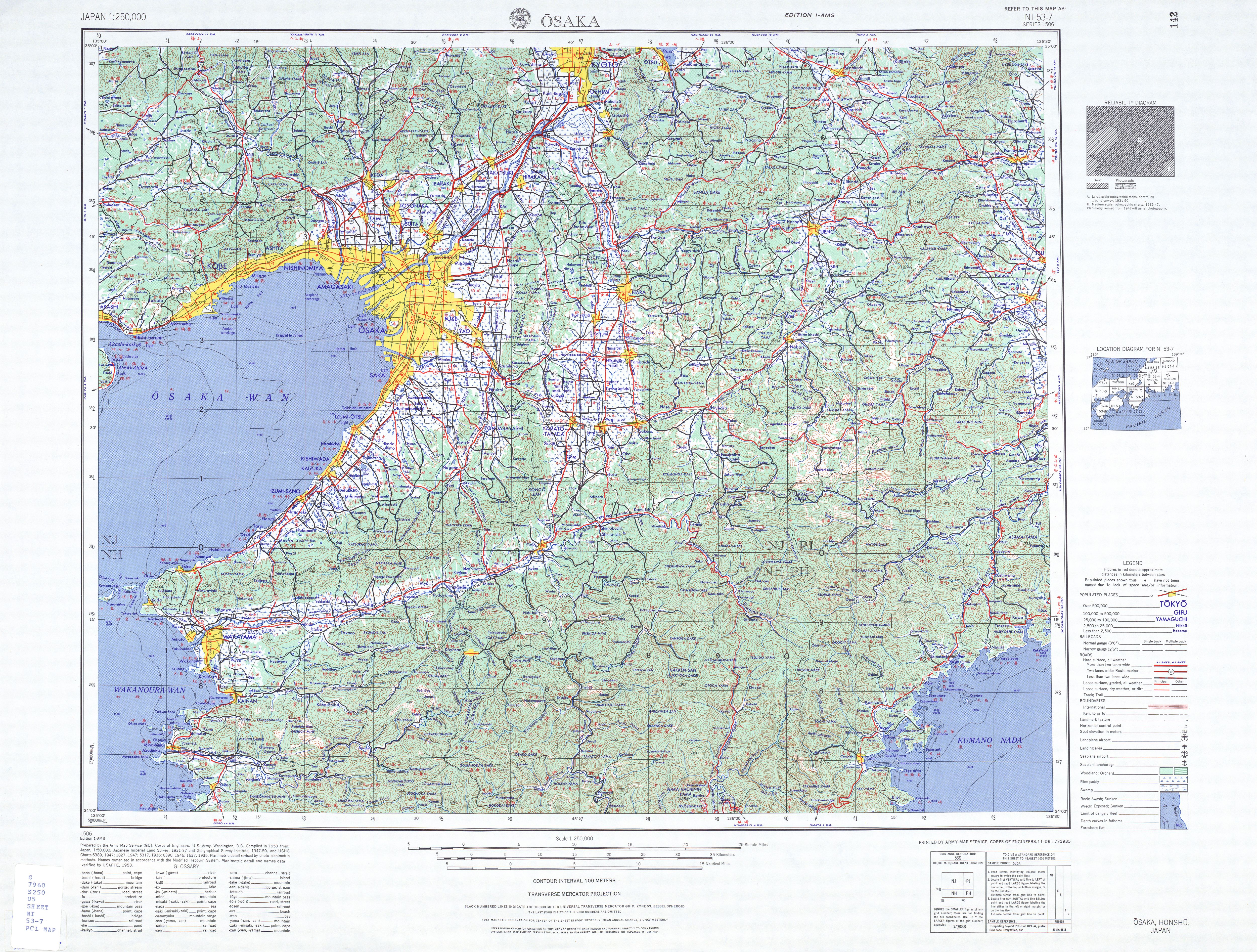 Japan AMS Topographic Maps PerryCastañeda Map Collection UT - Japan map 7
