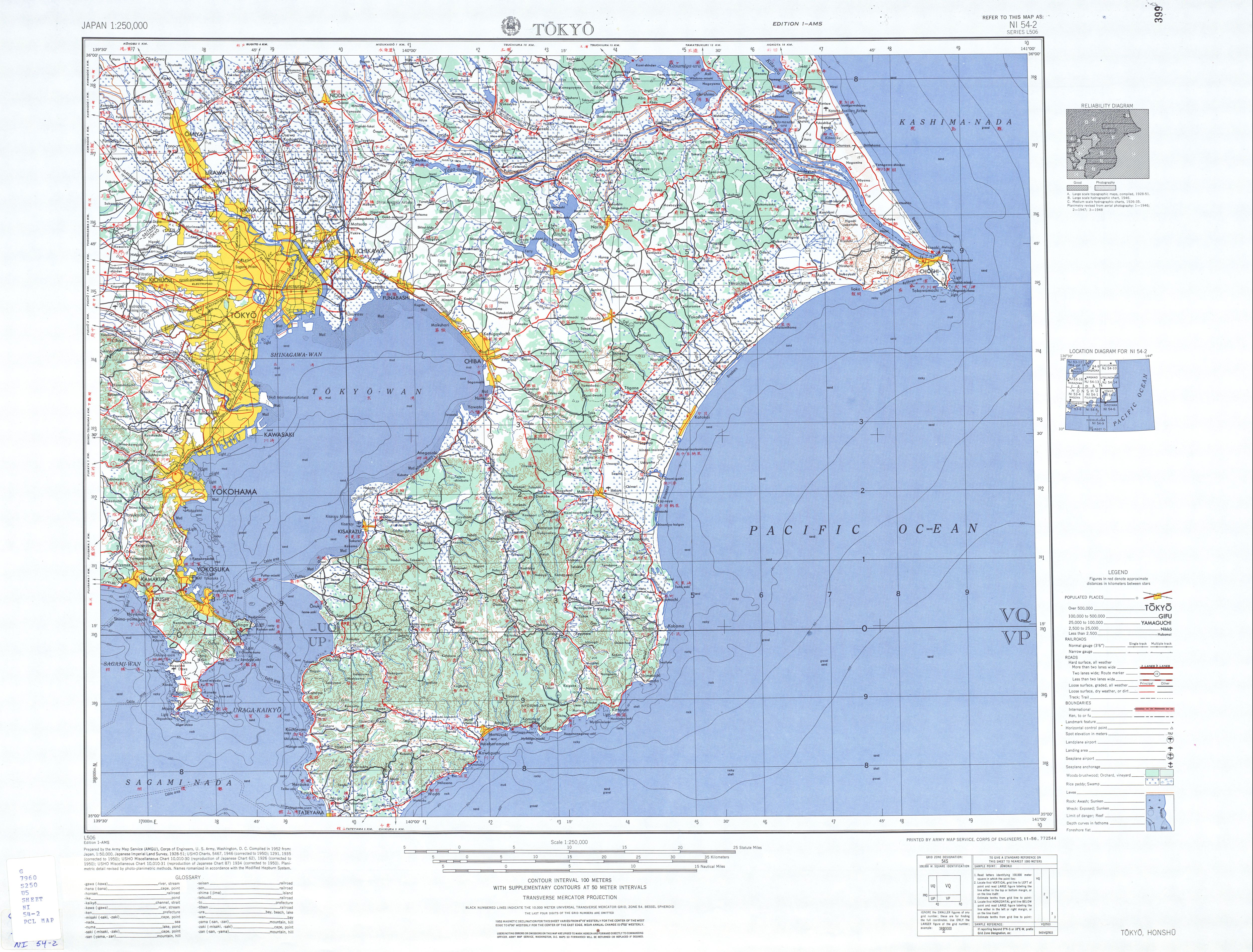 Japan AMS Topographic Maps   Perry Castañeda Map Collection   UT
