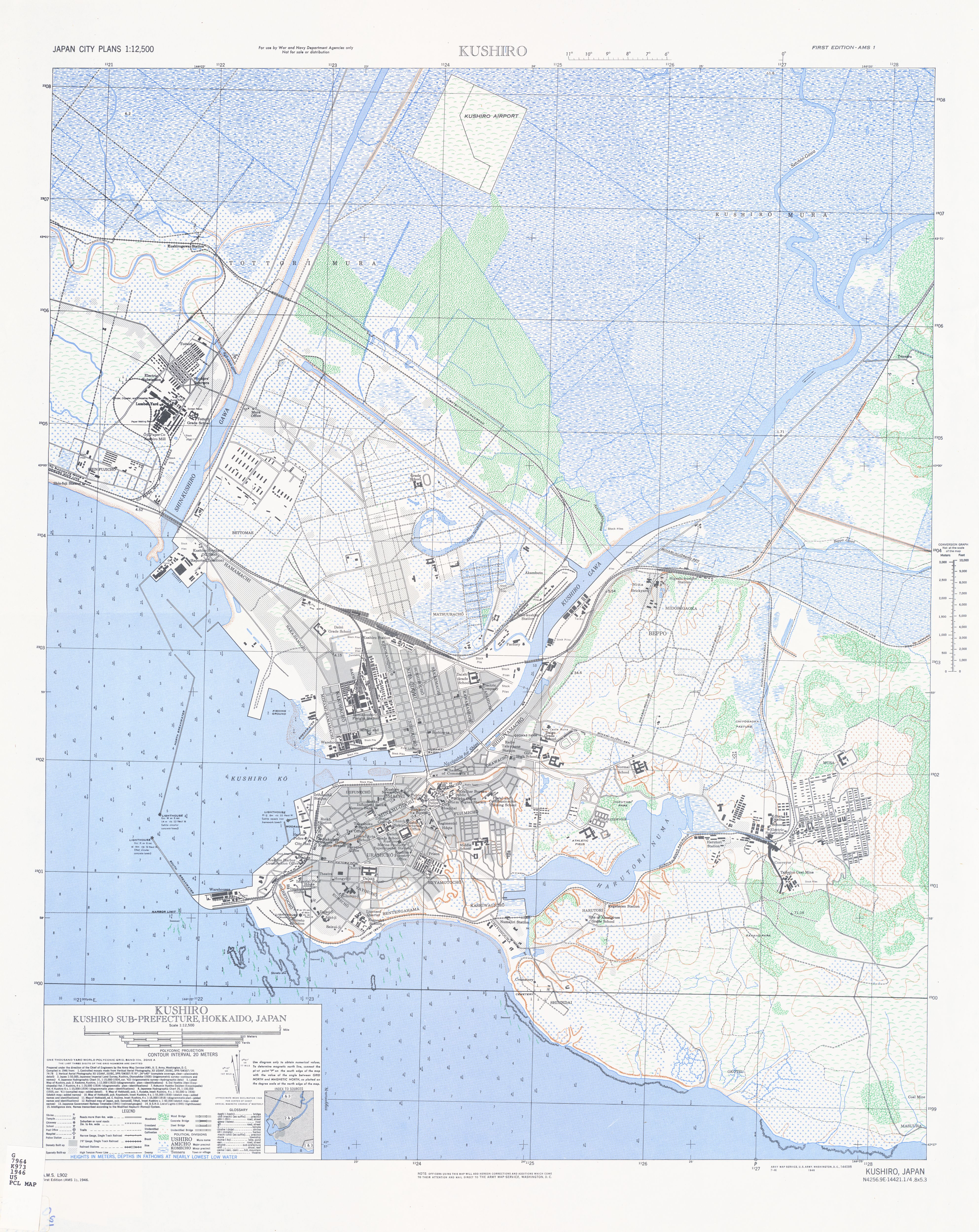 Japan City Plans PerryCastañeda Map Collection UT Library Online - Kushiro map