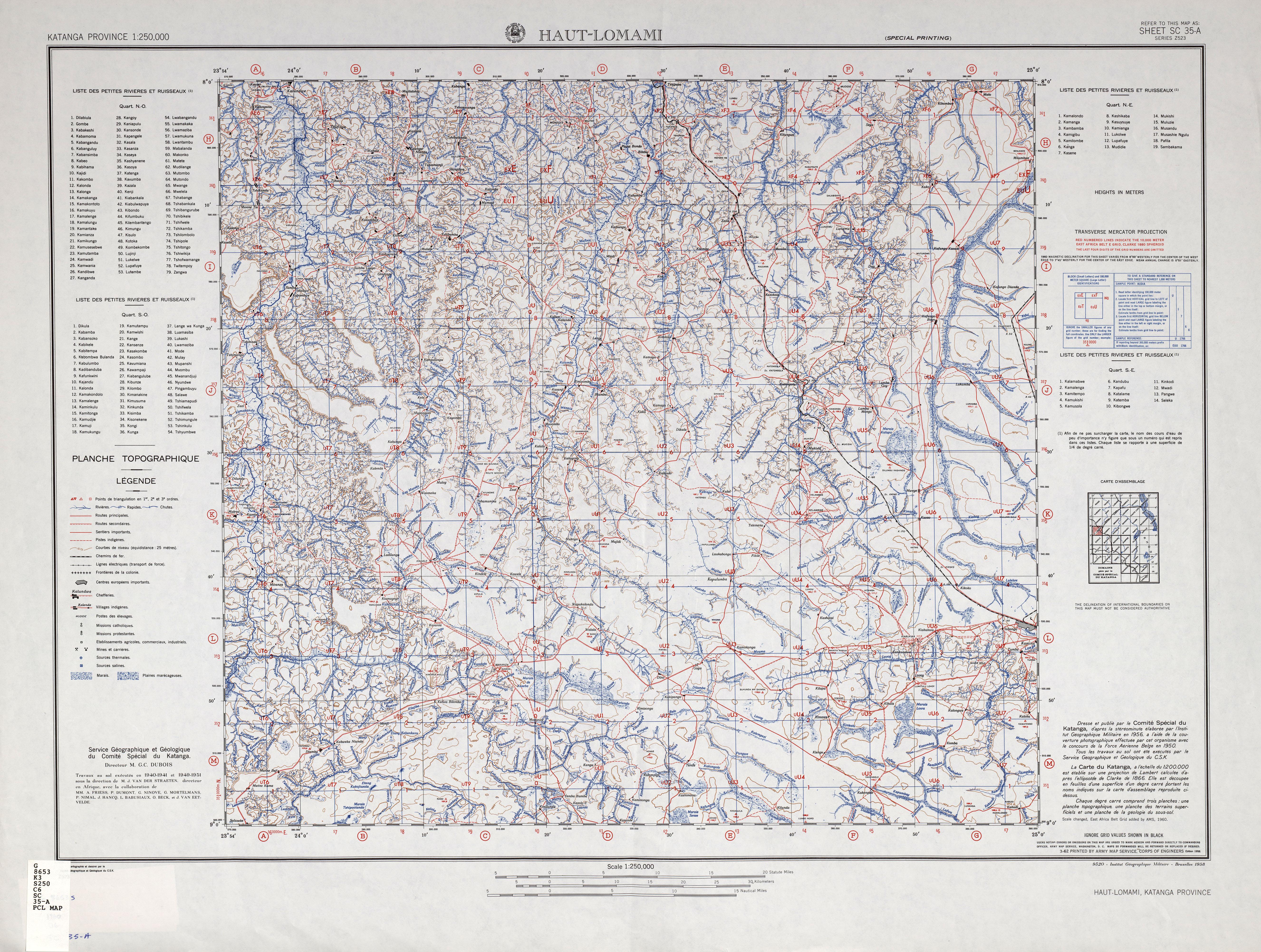 Katanga AMS Topographic Maps PerryCastañeda Map Collection UT - Us map in 2075