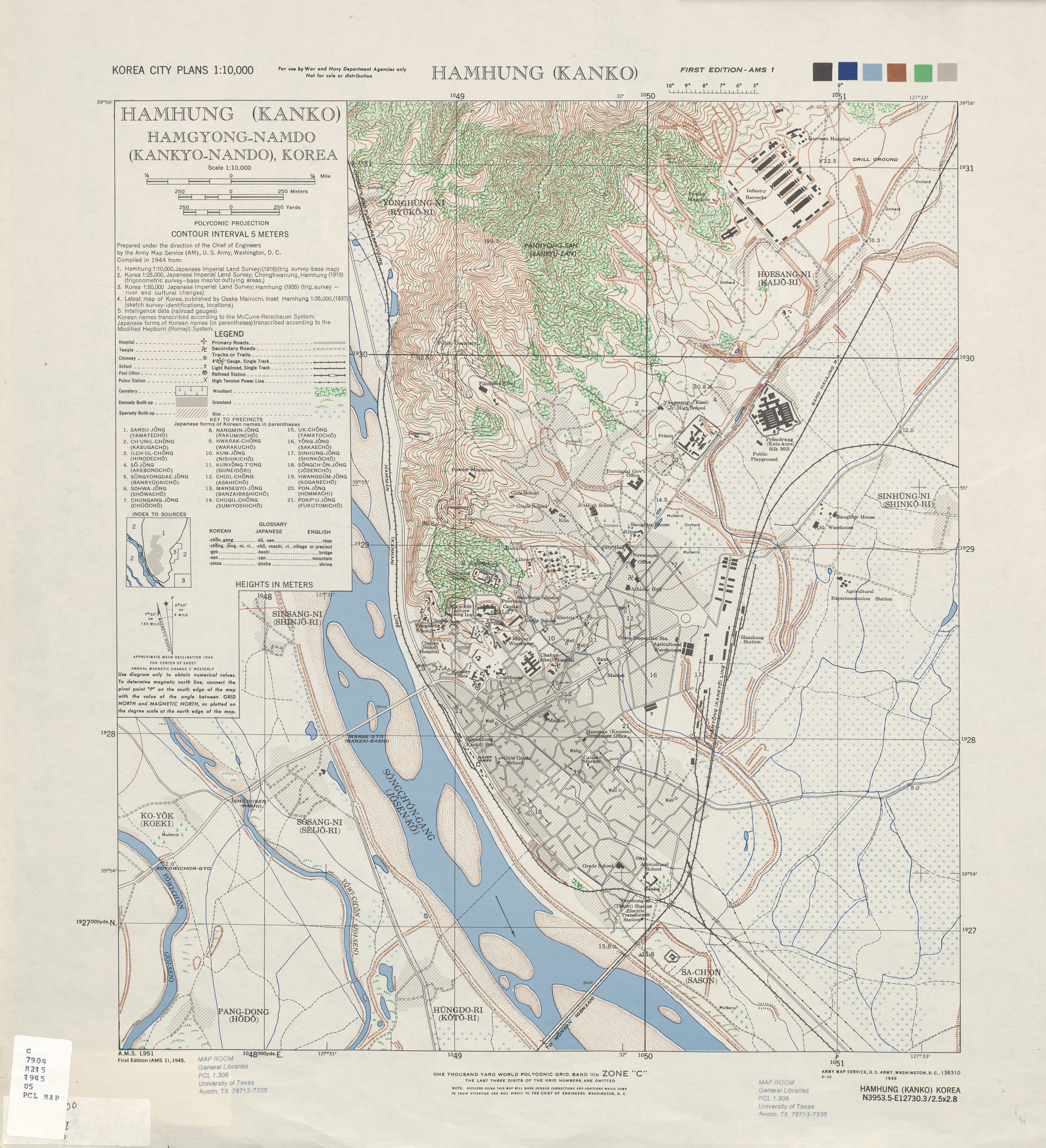 Korea City Plans PerryCastaeda Map Collection UT Library Online