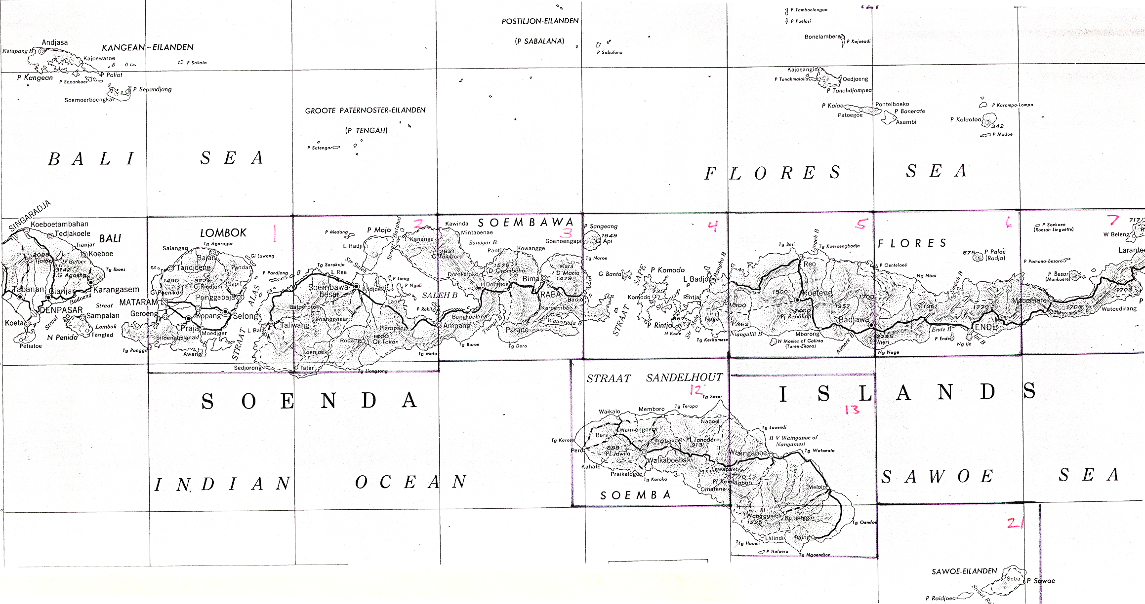 Lesser Sunda Islands AMS Topographic Maps - Perry-Castañeda Map