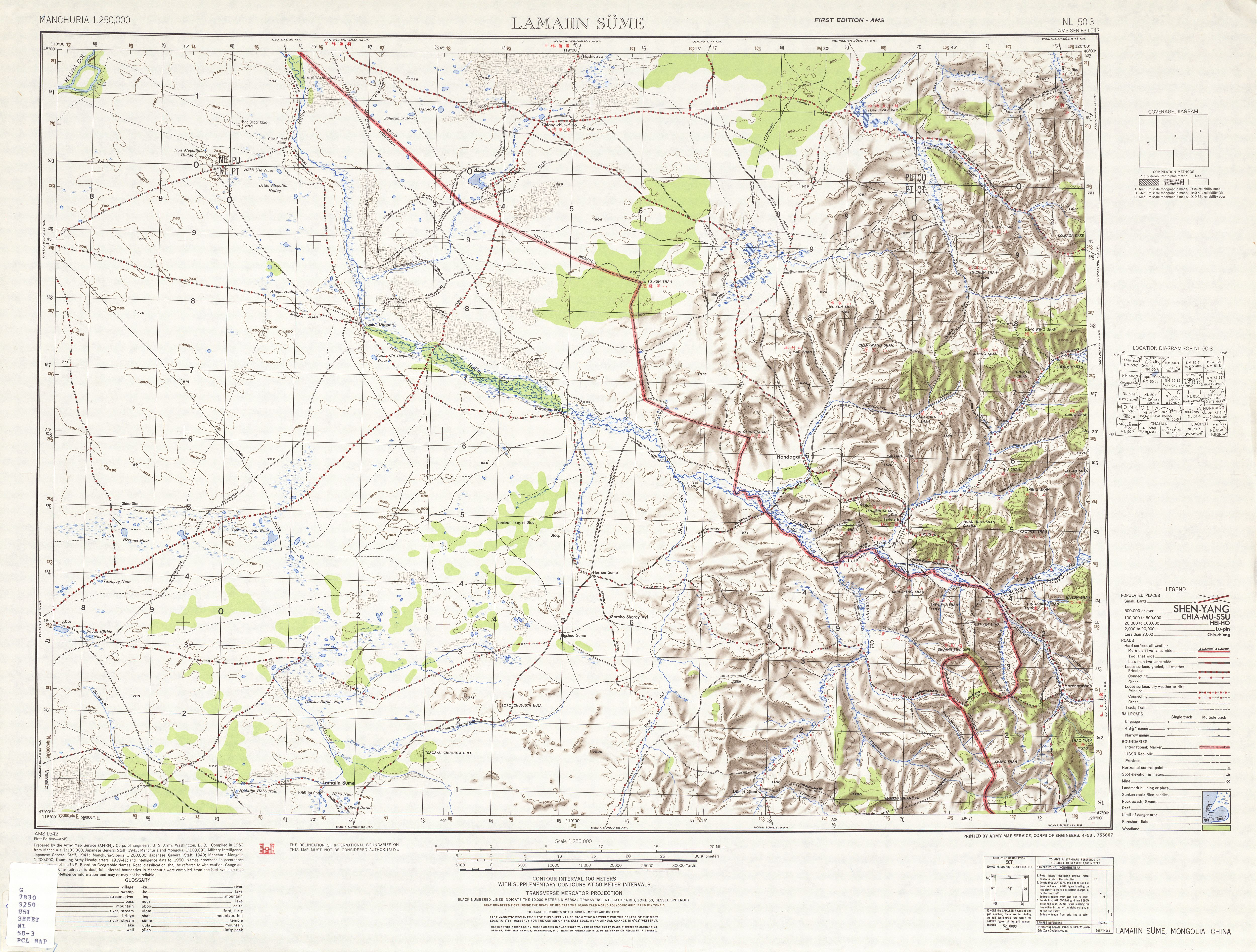 Topography Map Of Us.Manchuria Ams Topographic Maps Perry Castaneda Map Collection Ut
