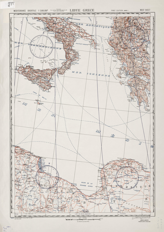 Mediterranee Orientale AMS Topographic Maps - Perry-Castañeda Map ...