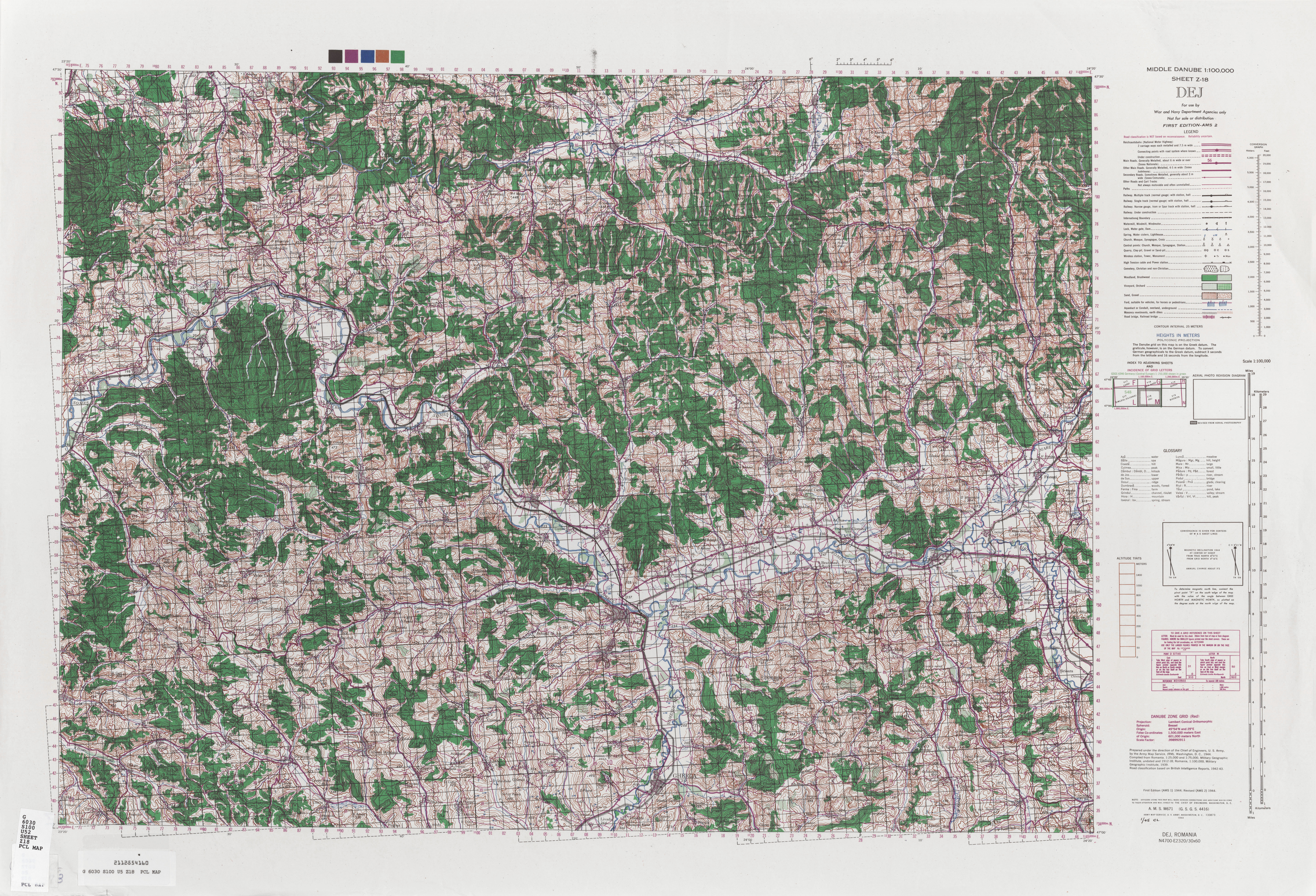 Middle Danube AMS Topographic Maps - Perry-Castañeda Map Collection on