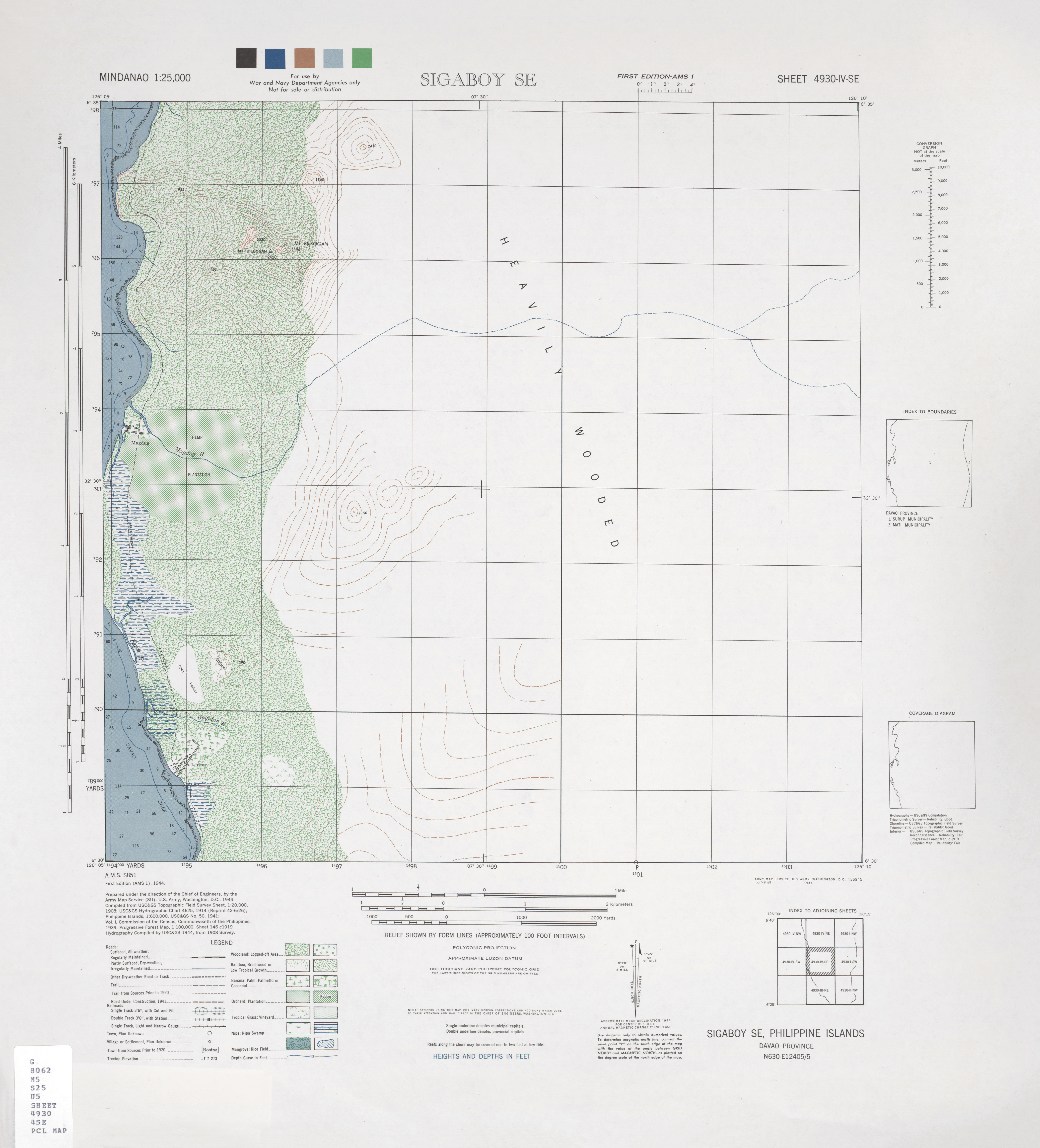 mindanao ams topographic maps perry castañeda map collection