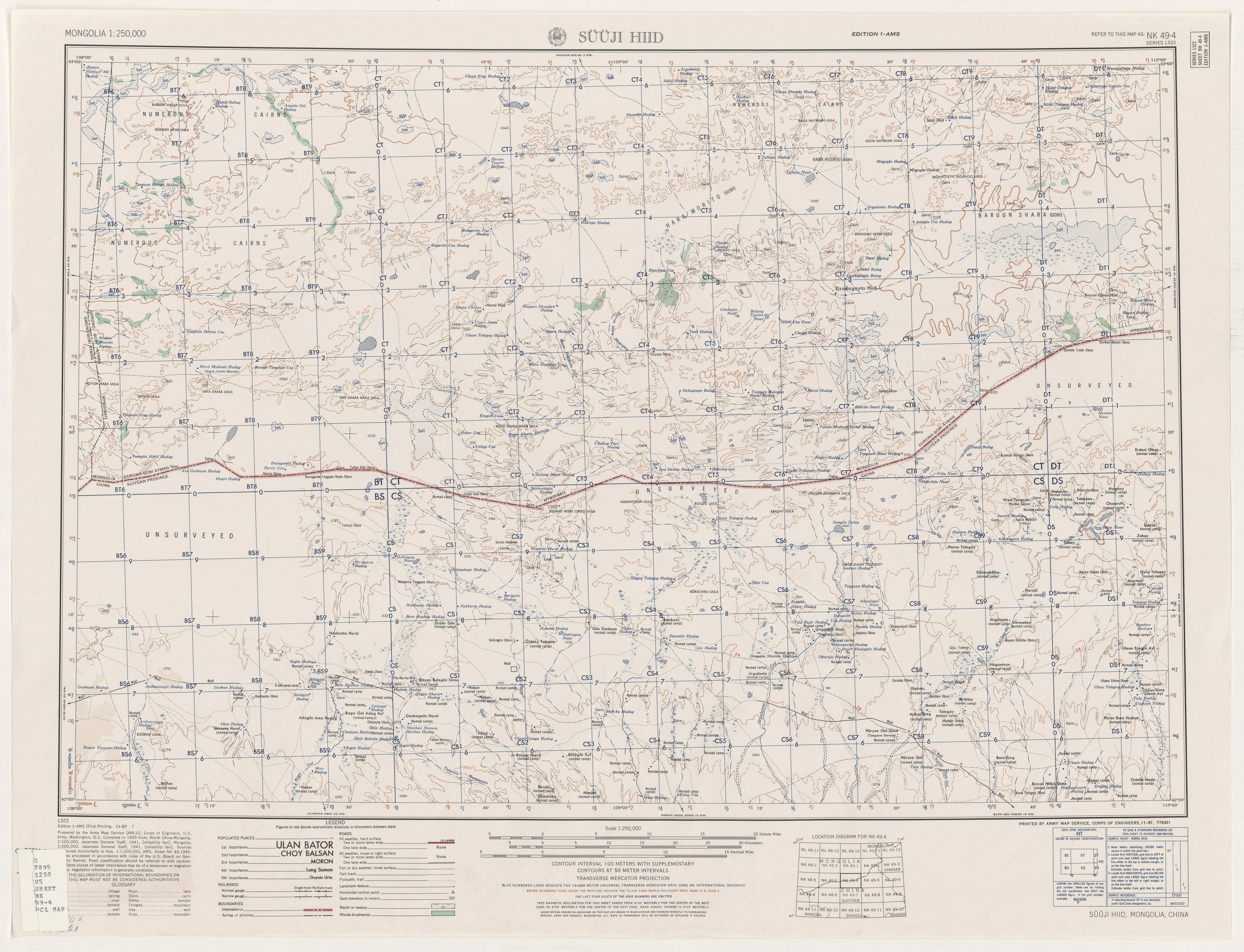 Mongolia AMS Topographic Maps - Perry-Castañeda Map Collection ...