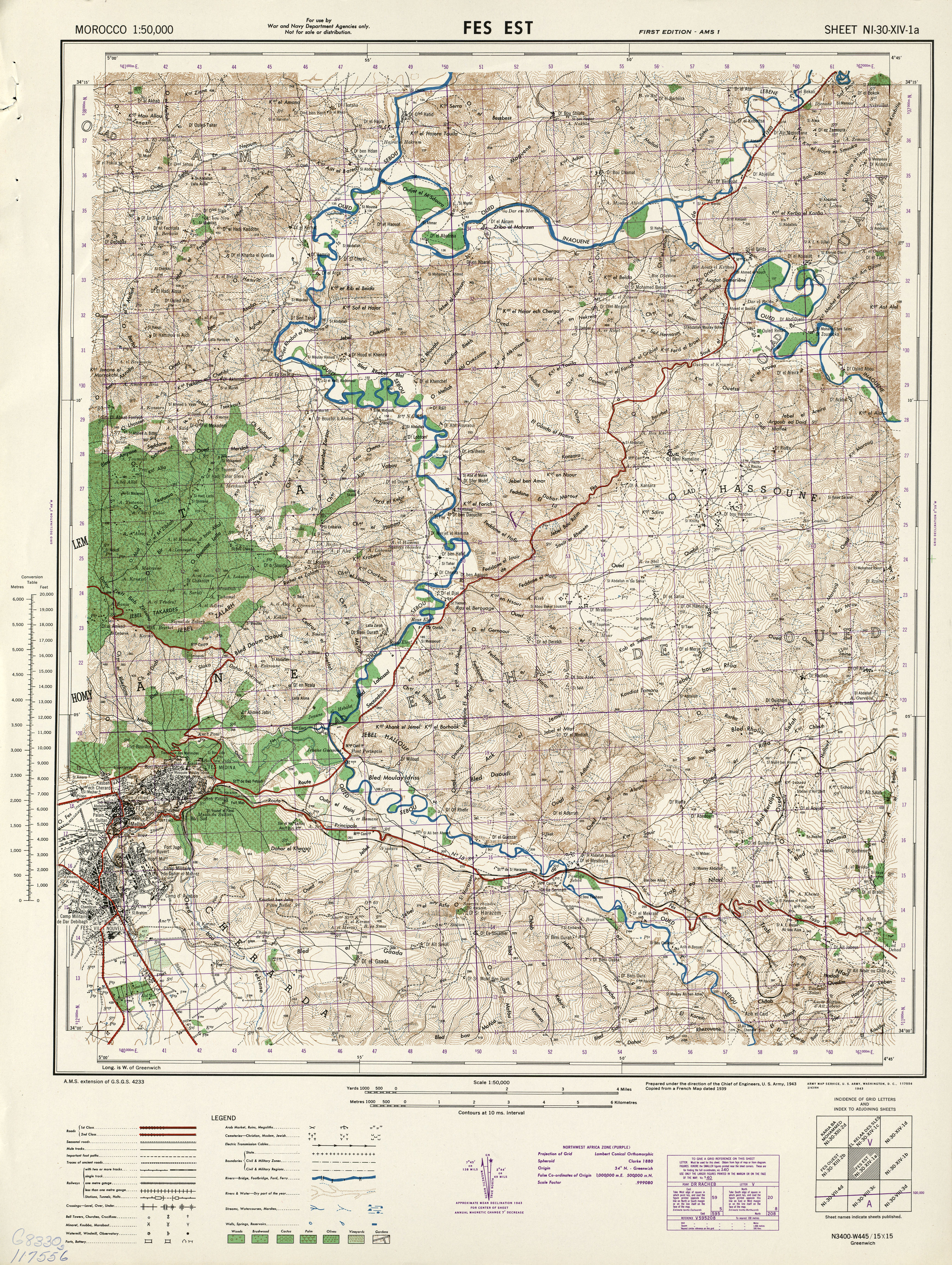 Morocco AMS Topographic Maps PerryCastaeda Map Collection UT