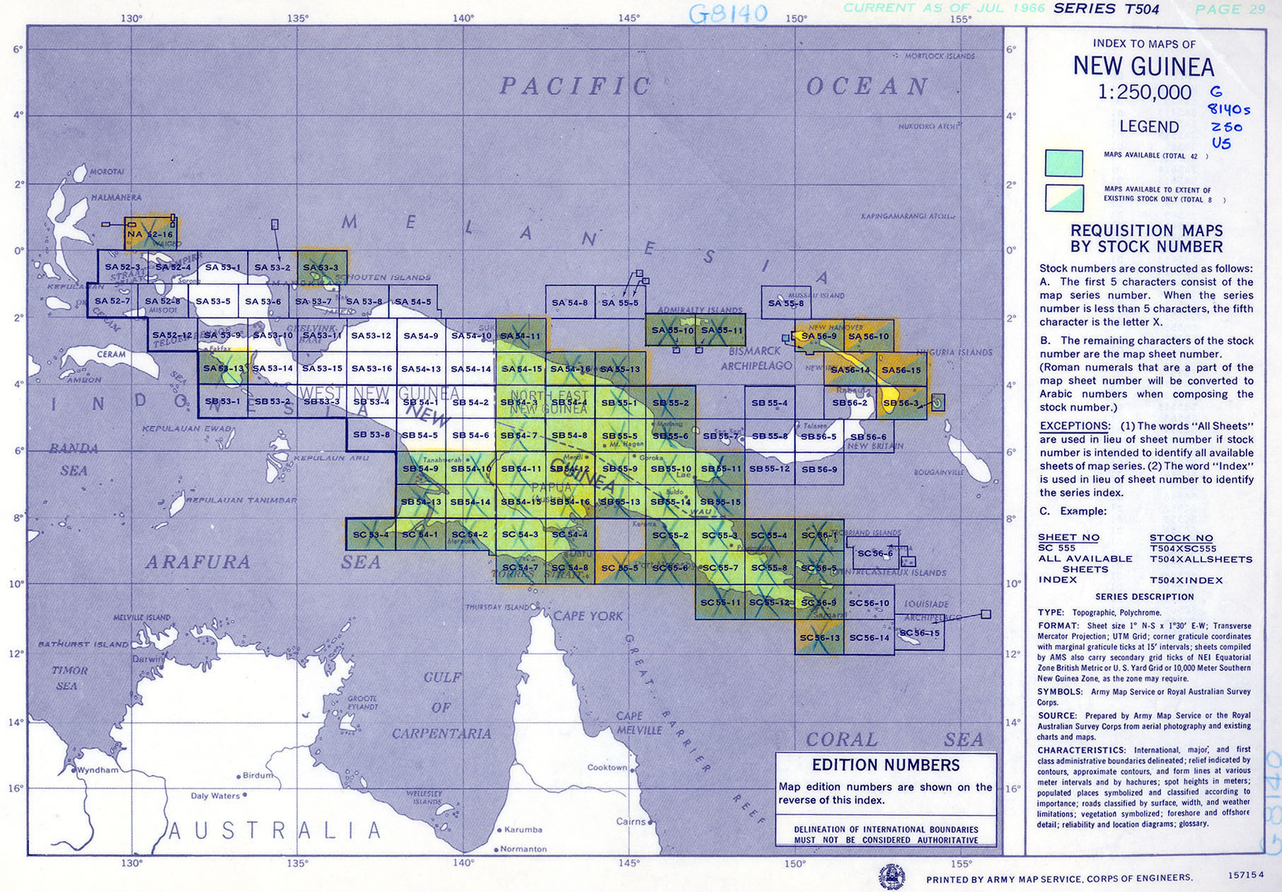New Guinea AMS Topographic Maps - Perry-Castañeda Map Collection ...