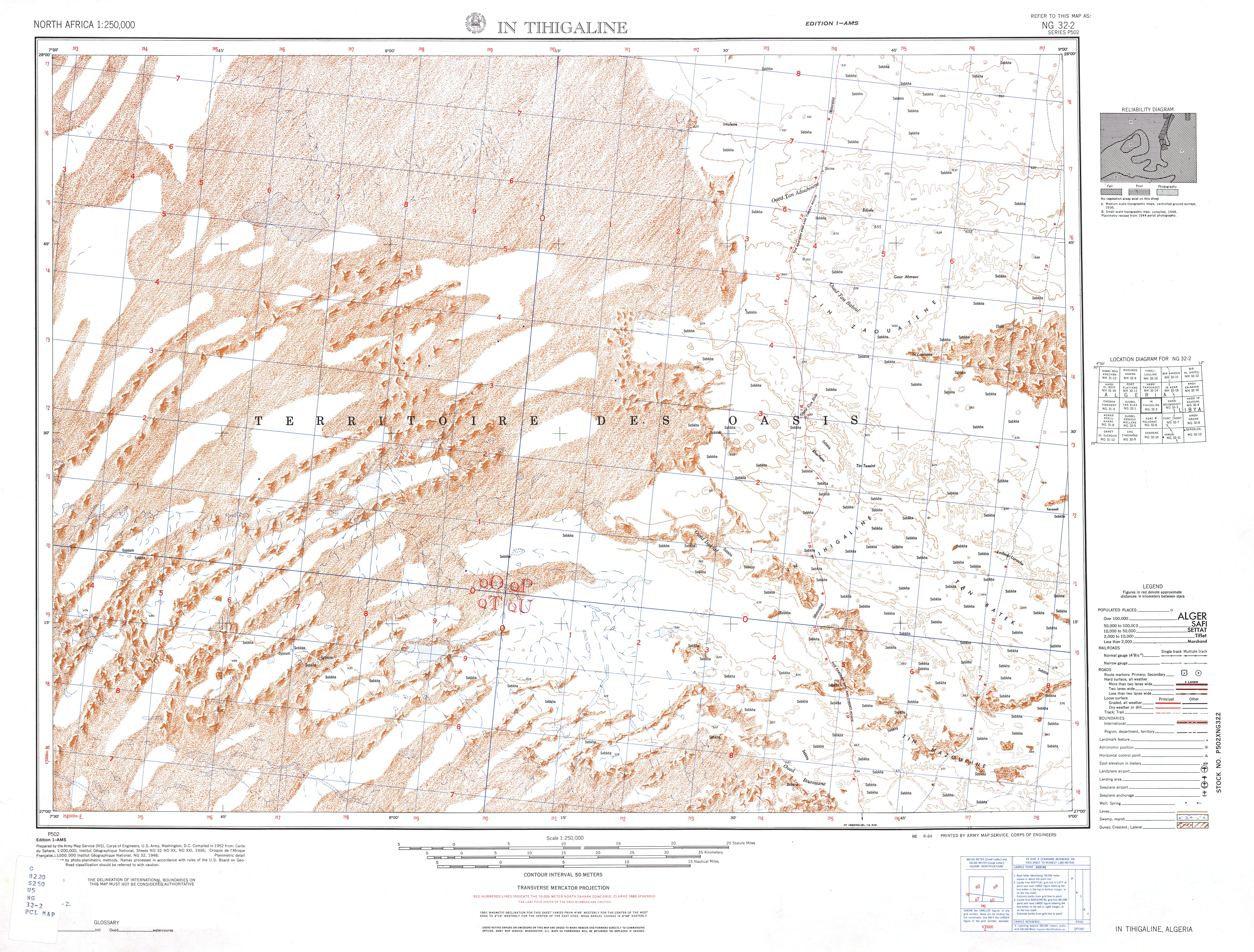 north africa ams topographic maps perry castañeda map collection