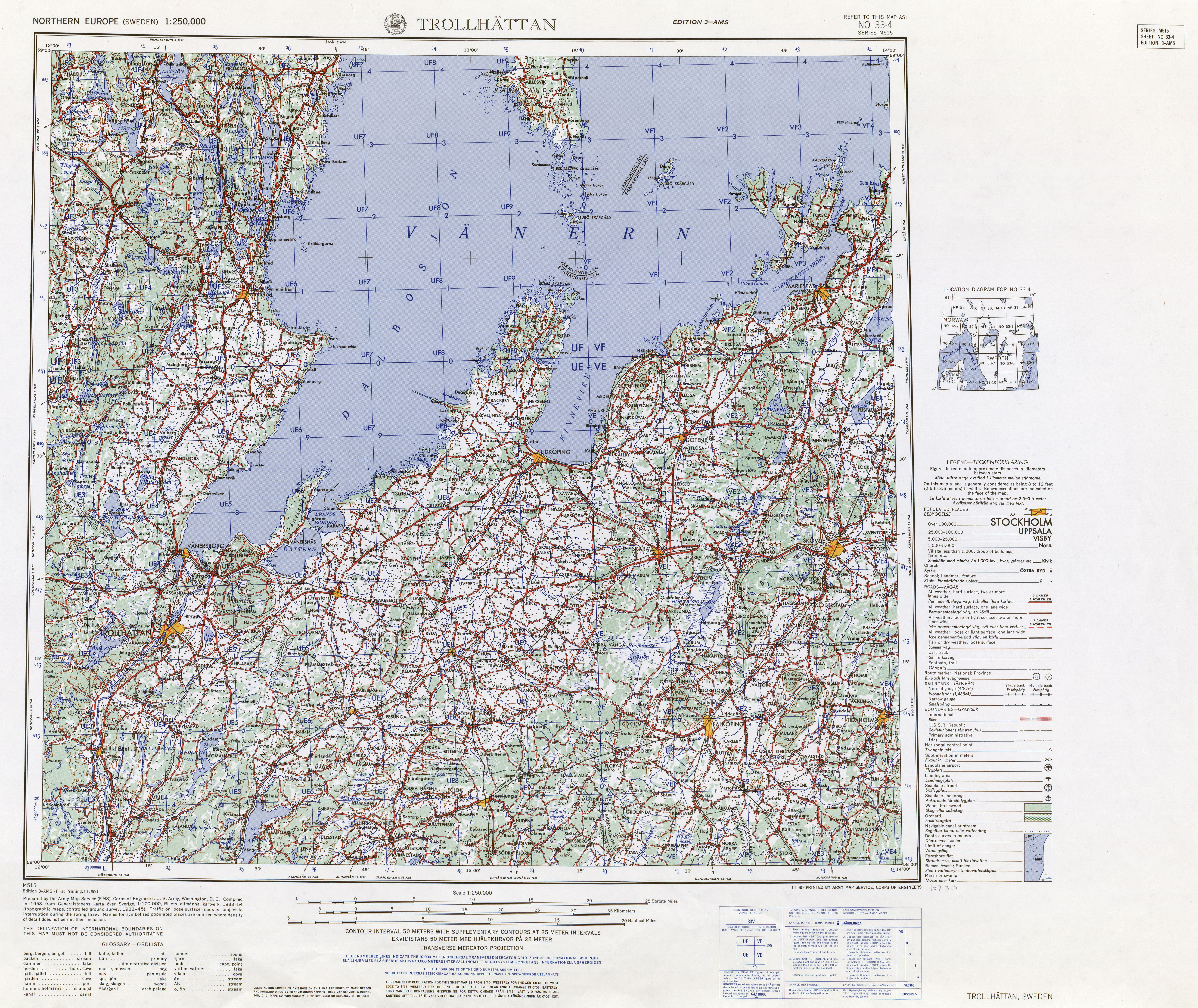 Northern Europe AMS Topographic Maps - Perry-Castañeda Map ...