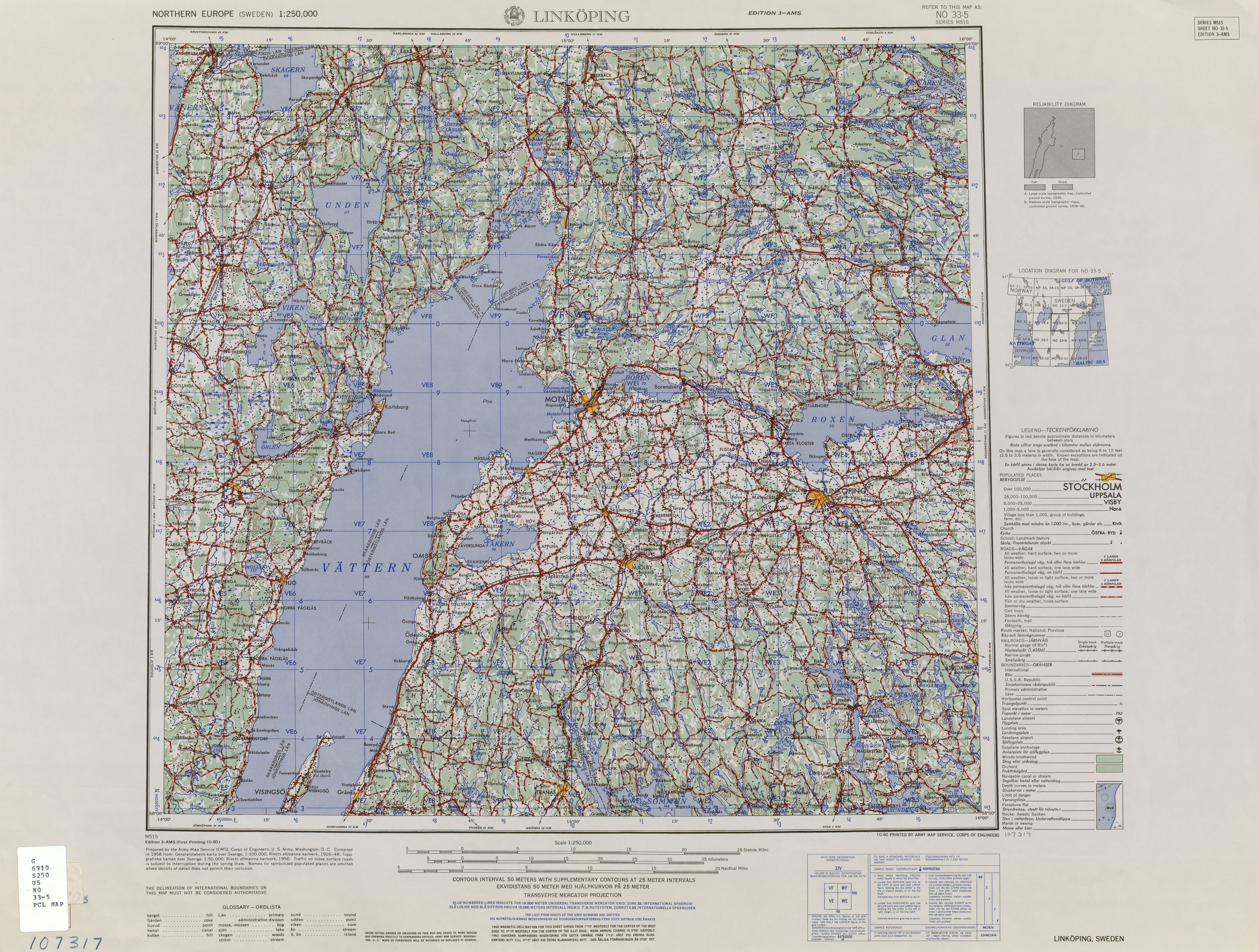 Northern Europe AMS Topographic Maps PerryCastañeda Map - Map of northern ohio