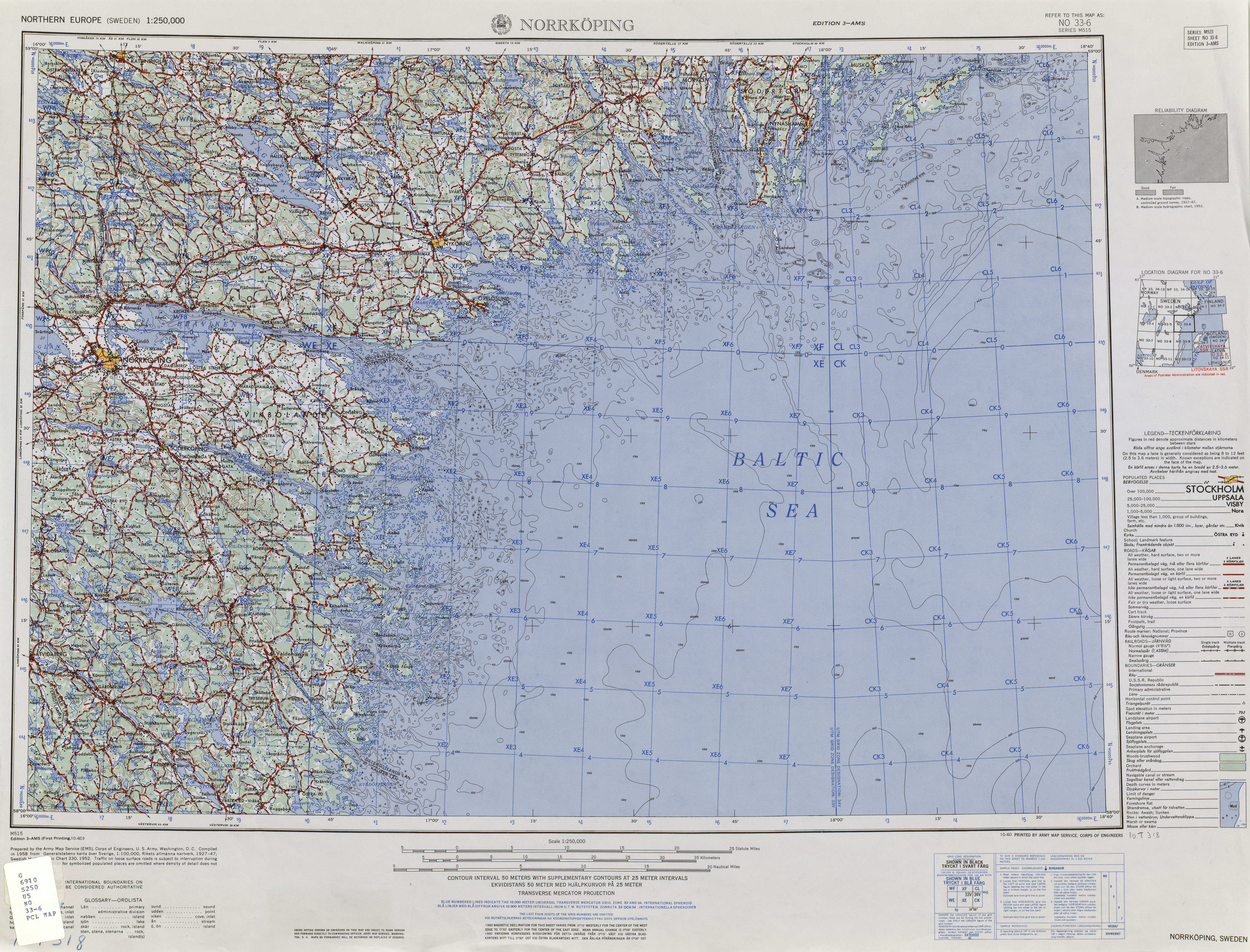 Northern Europe AMS Topographic Maps PerryCastaeda Map
