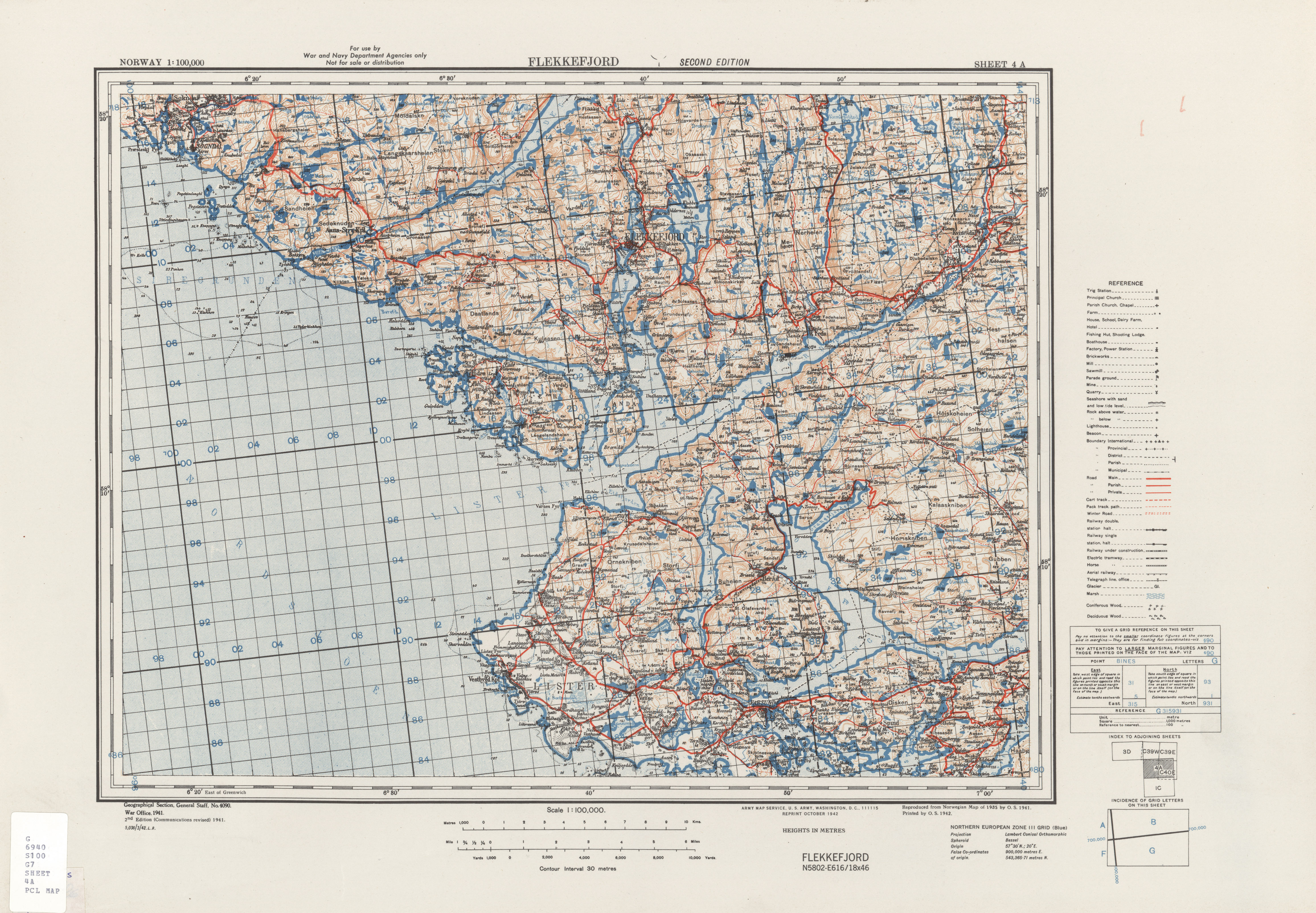Norway AMS Topographic Maps PerryCastaeda Map Collection UT
