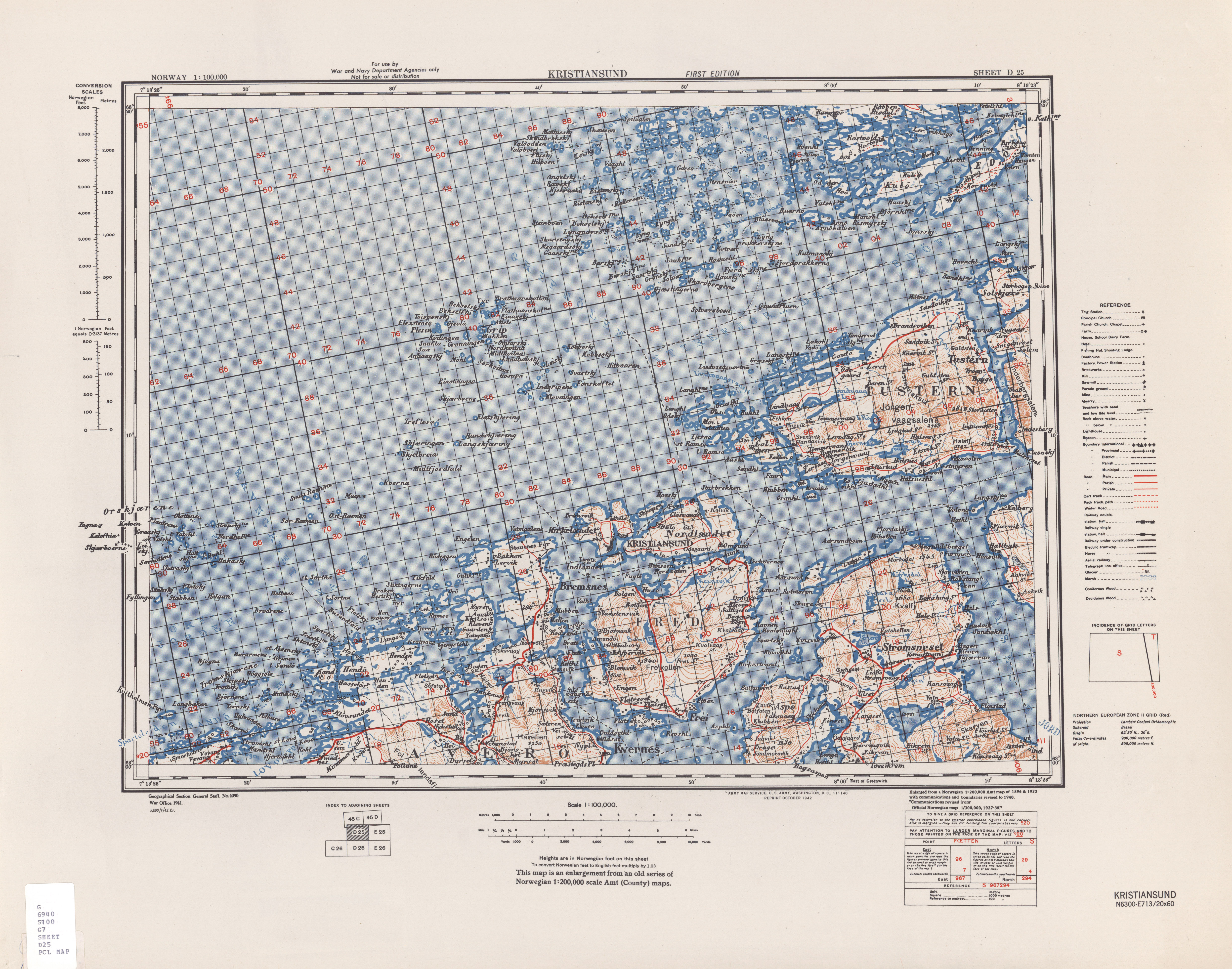 Norway AMS Topographic Maps PerryCastañeda Map Collection UT - Norway map kristiansund