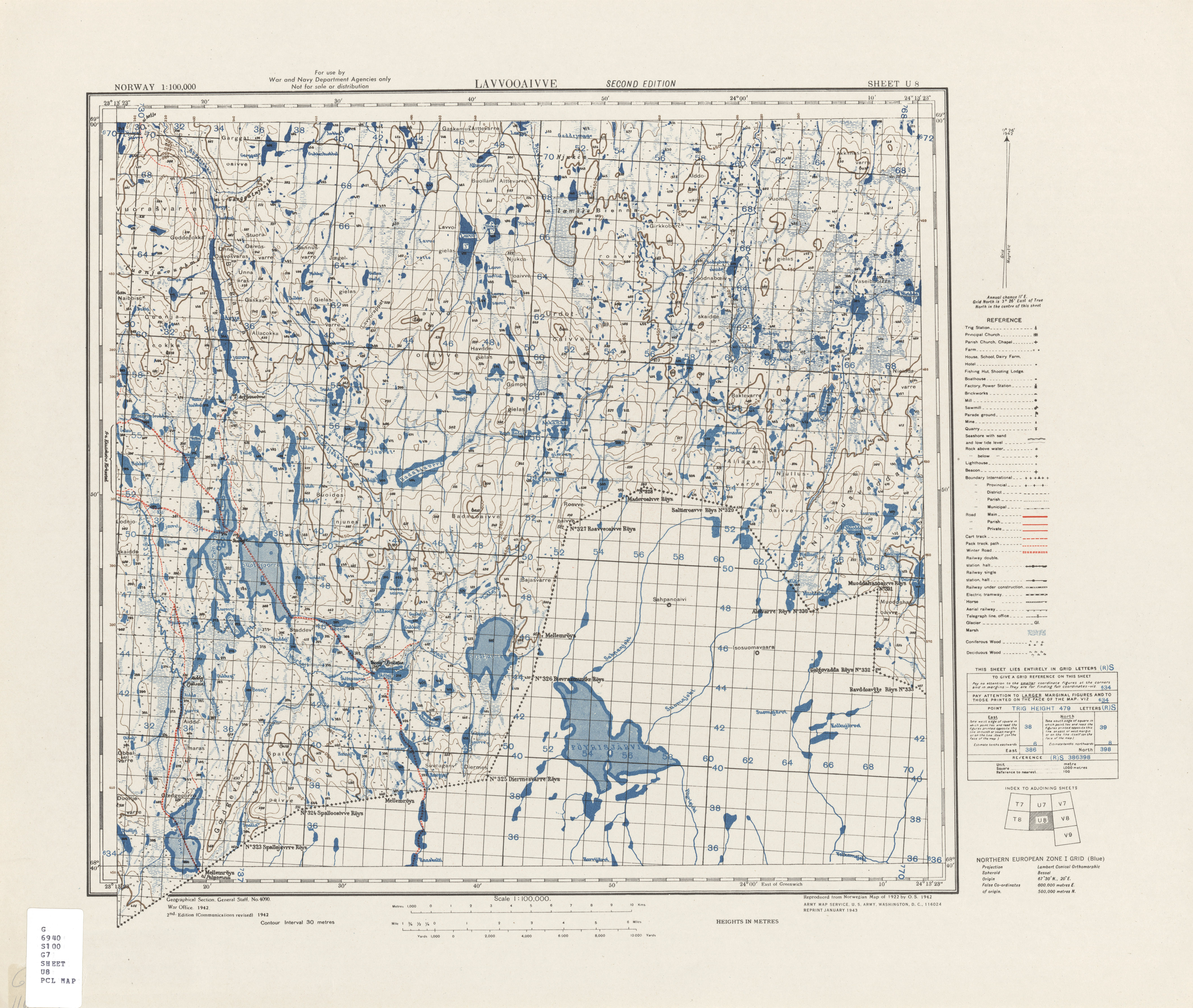 Norway AMS Topographic Maps PerryCastañeda Map Collection UT - Norway on us map