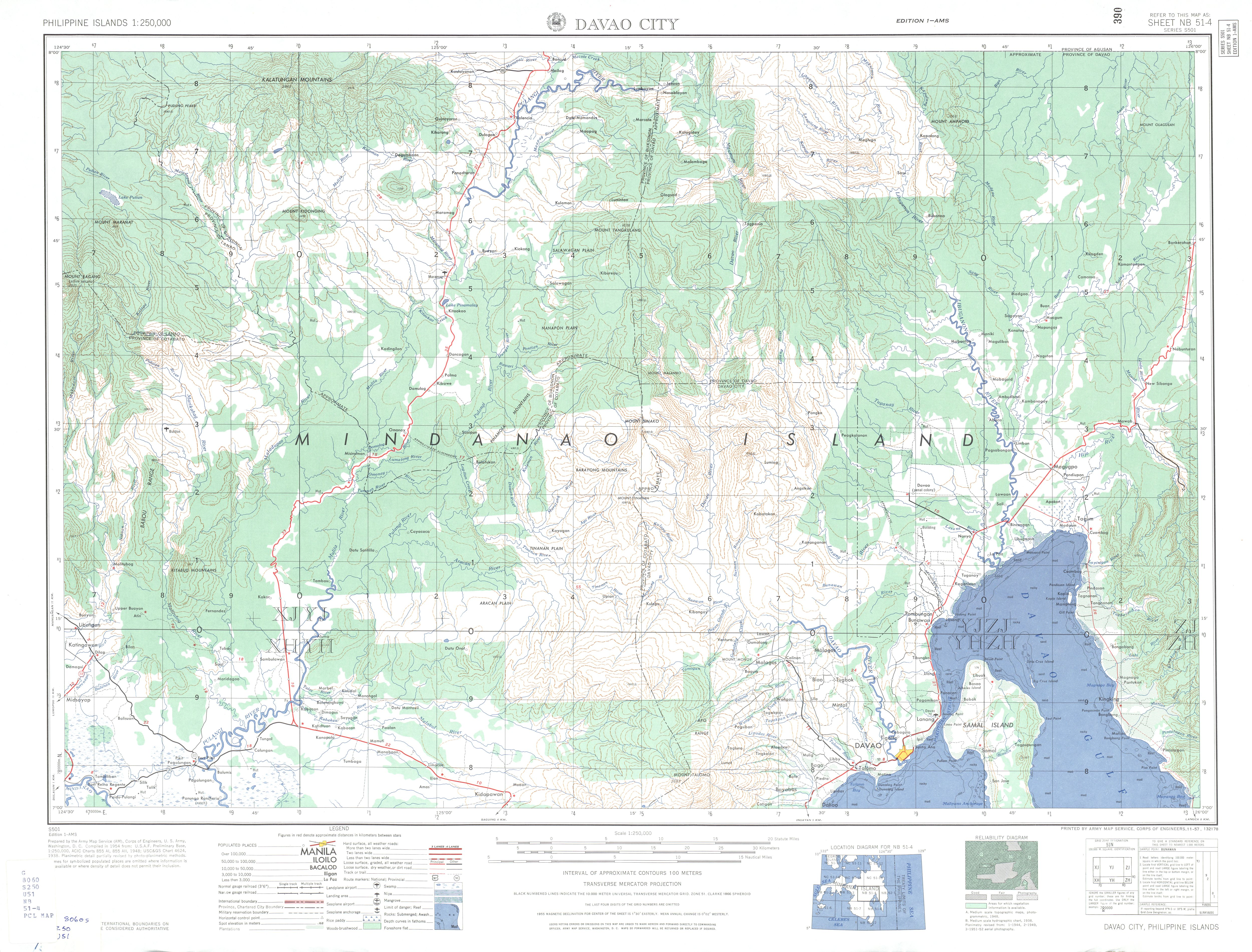 Philippines AMS Topographic Maps PerryCastañeda Map Collection - Us city elevations map