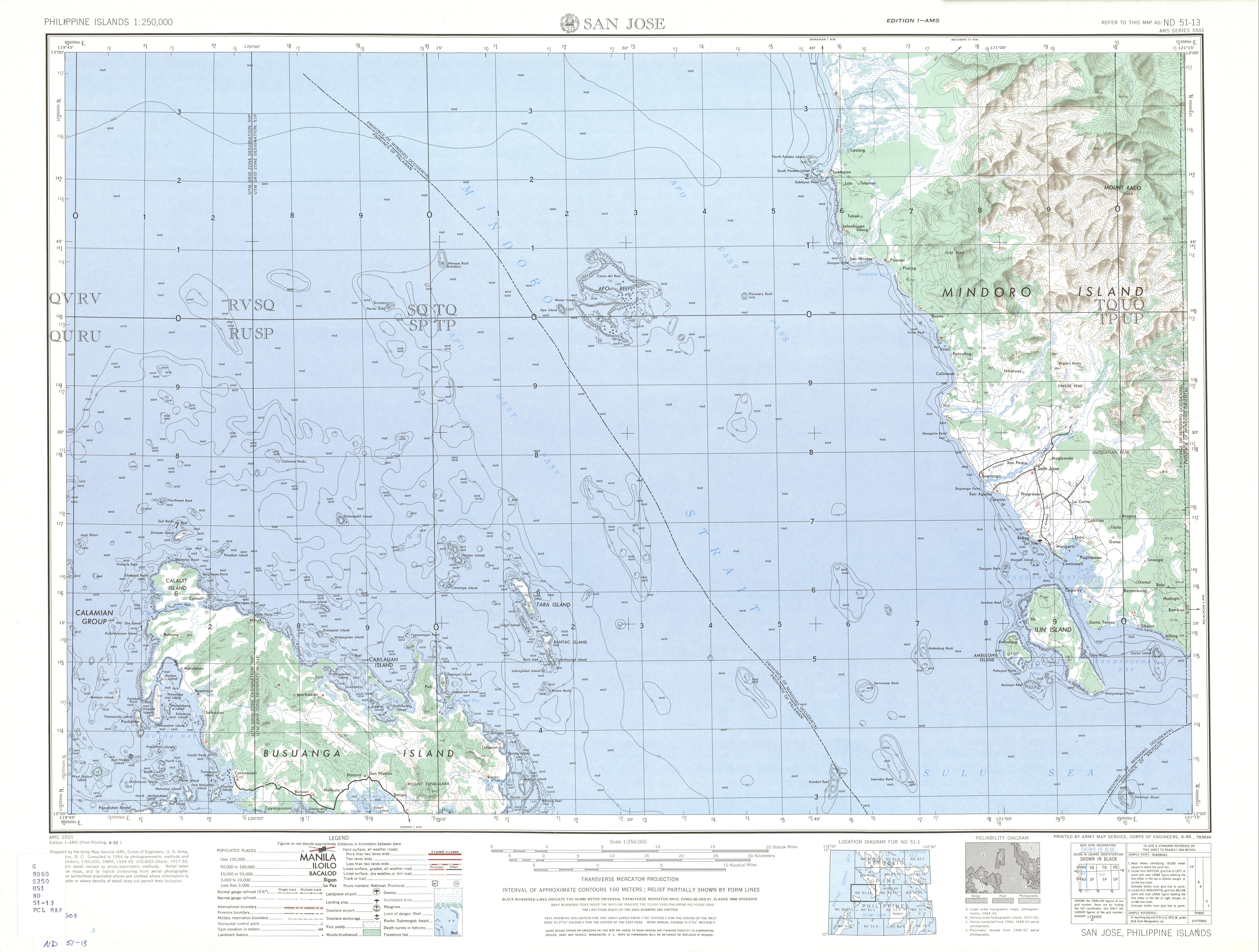 Philippines AMS Topographic Maps - Perry-Castañeda Map Collection ...