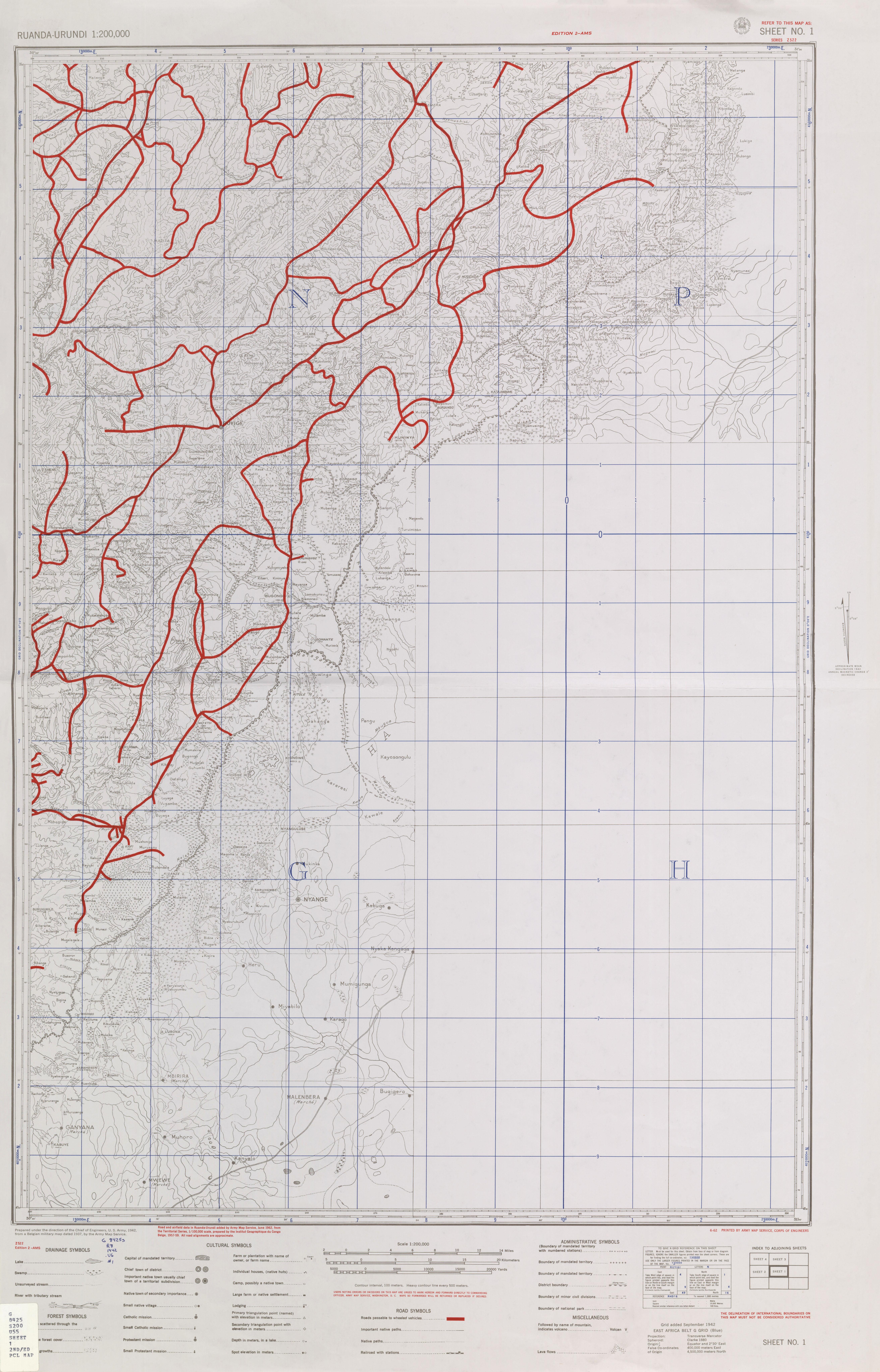 Ruanda-Urundi AMS Topographic Maps - Perry-Castañeda Map ...
