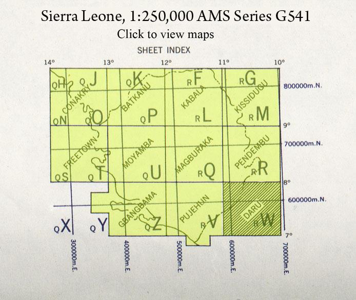 Sierra Leone Index Map