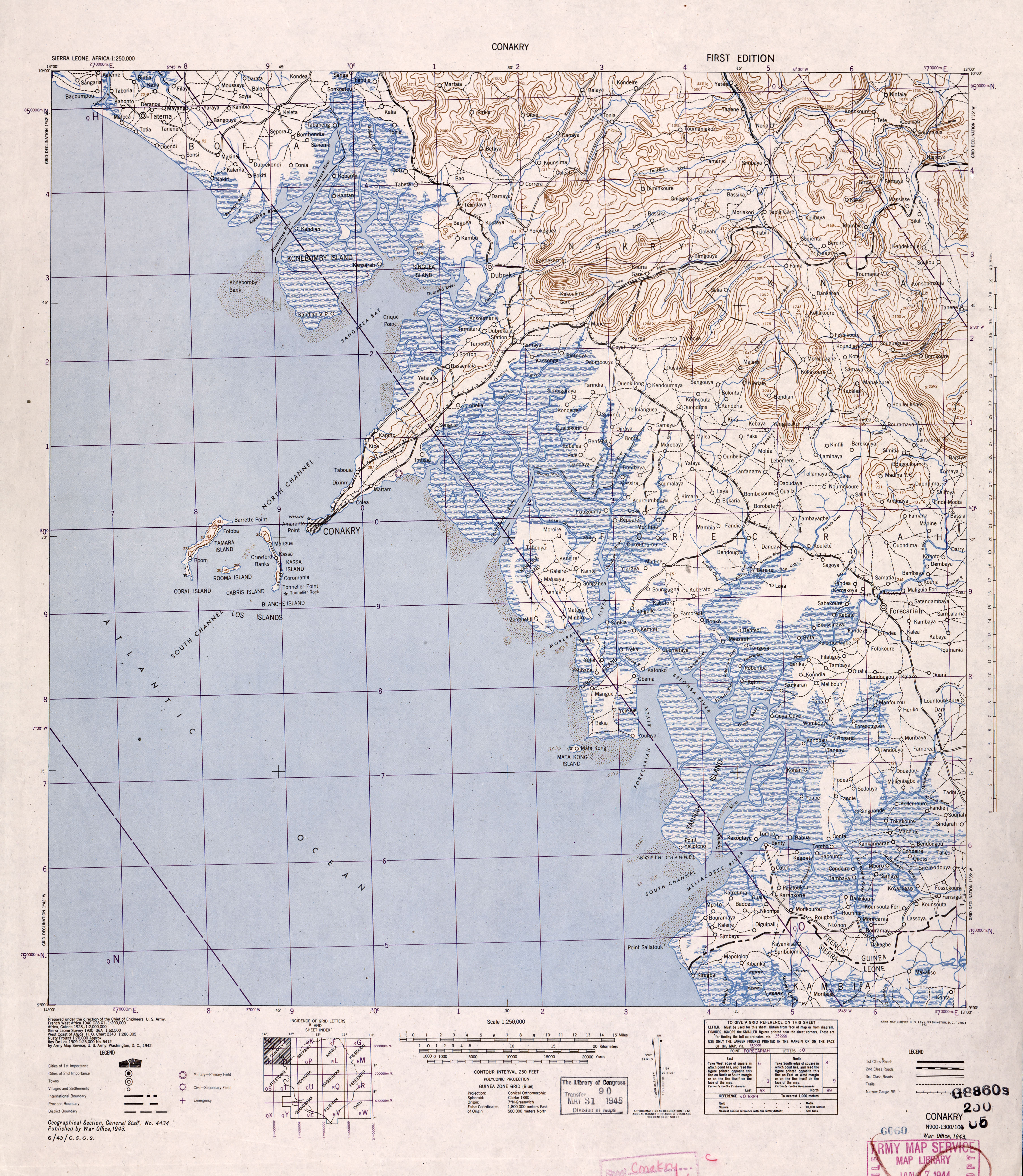 Sierra Leone Ams Topographic Maps Perry Castaneda Map Collection