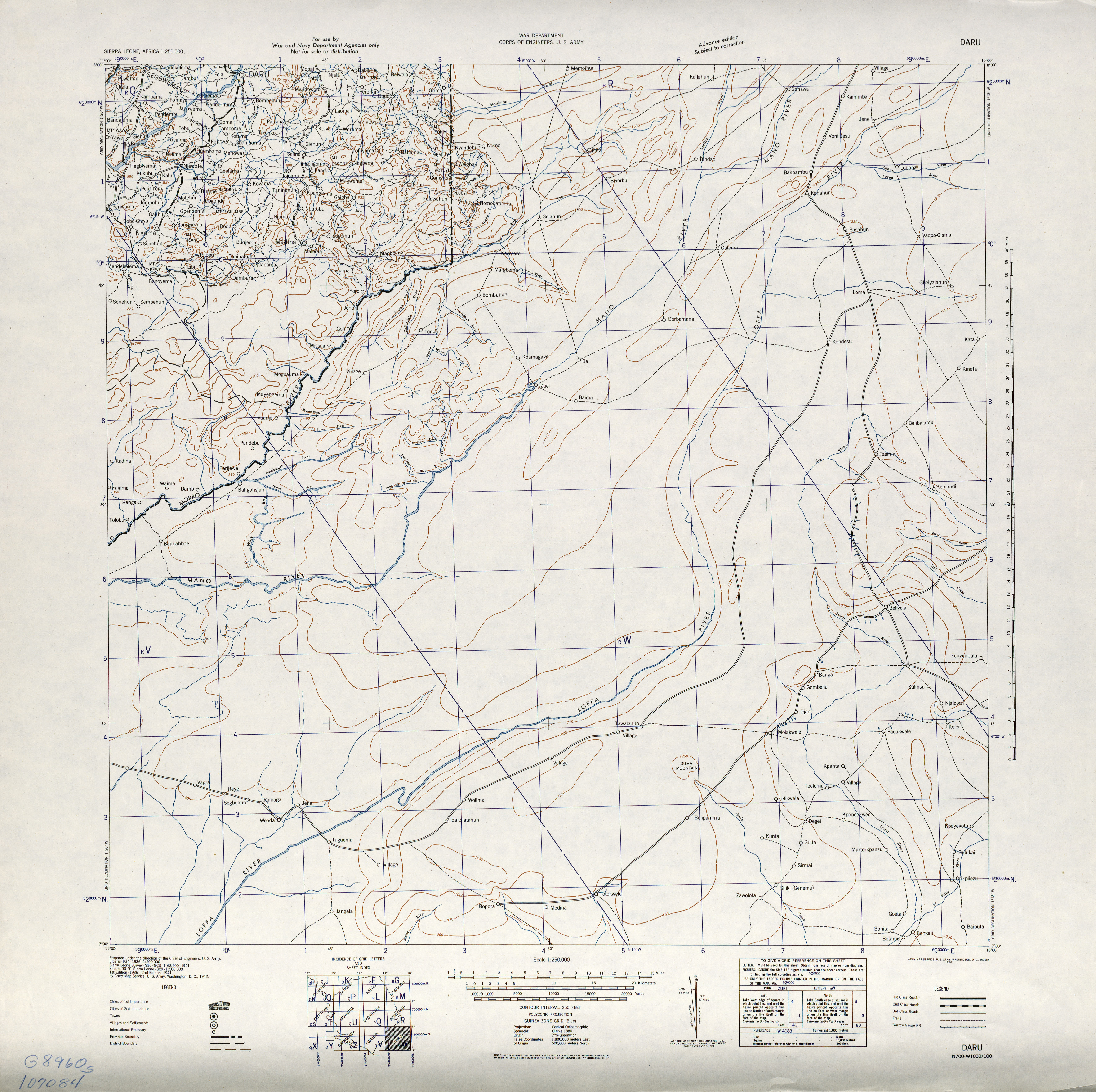 Sierra Leone AMS Topographic Maps - Perry-Castañeda Map Collection ...