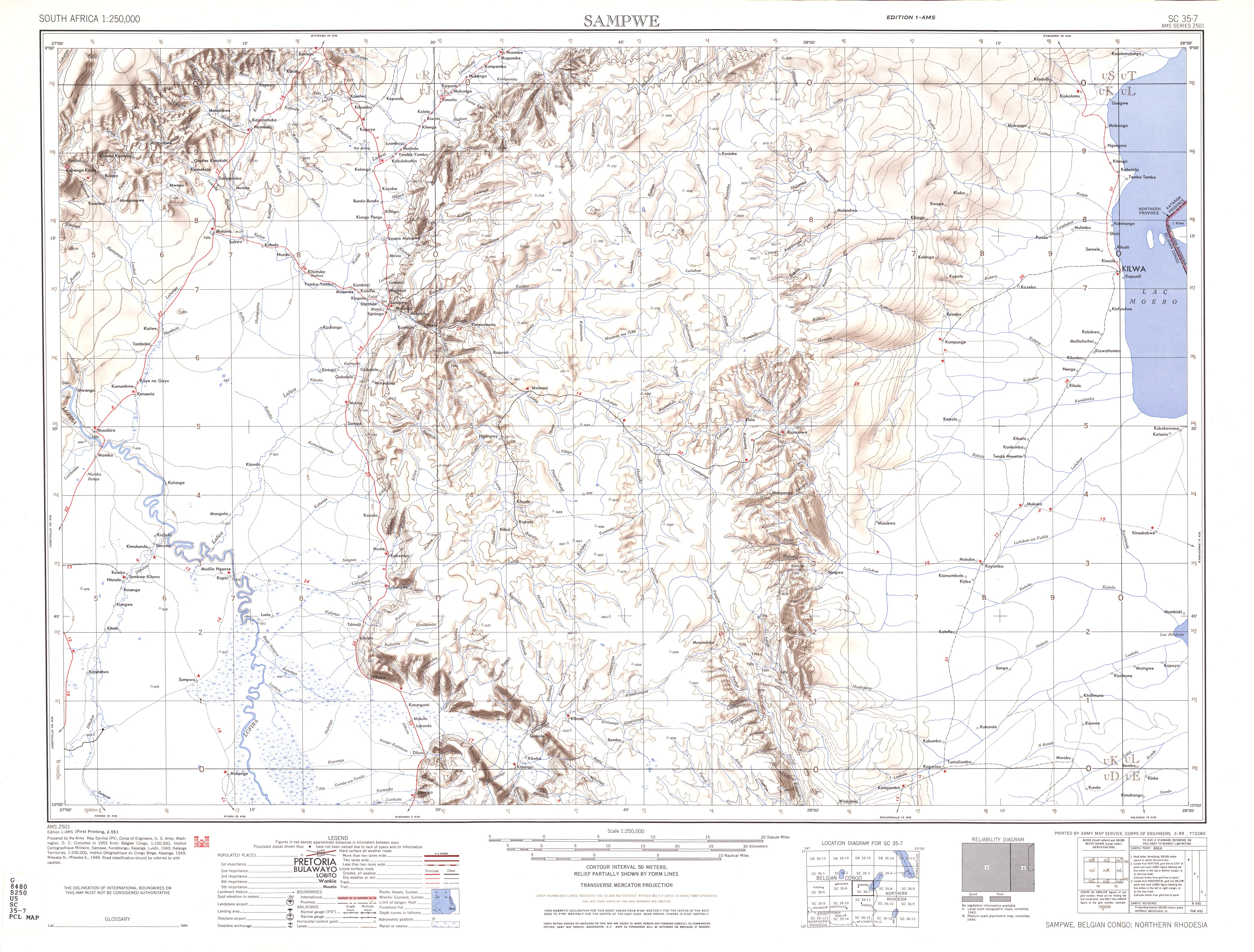 South Africa Ams Topographic Maps Perry Castaneda Map Collection