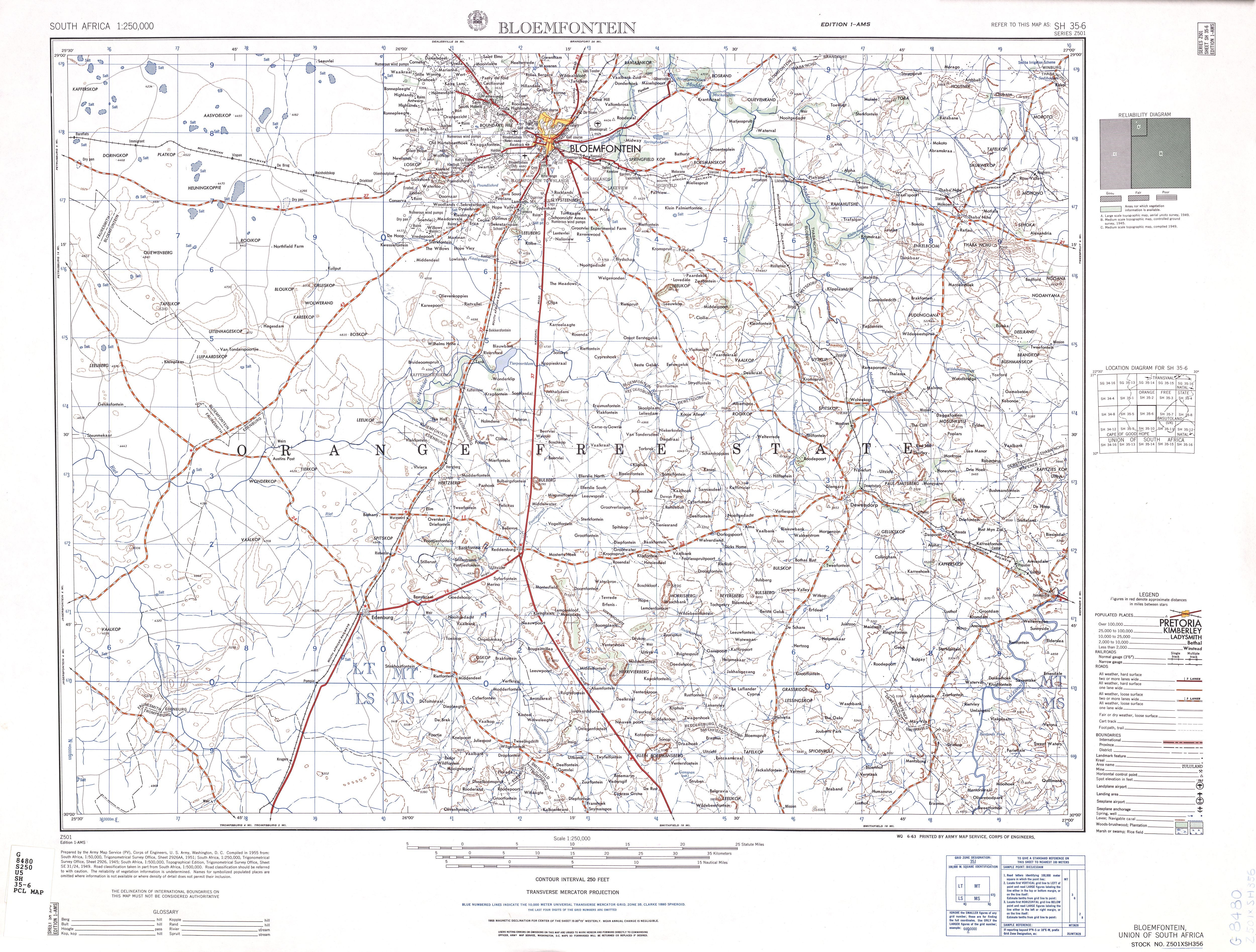 South Africa AMS Topographic Maps PerryCastaeda Map Collection