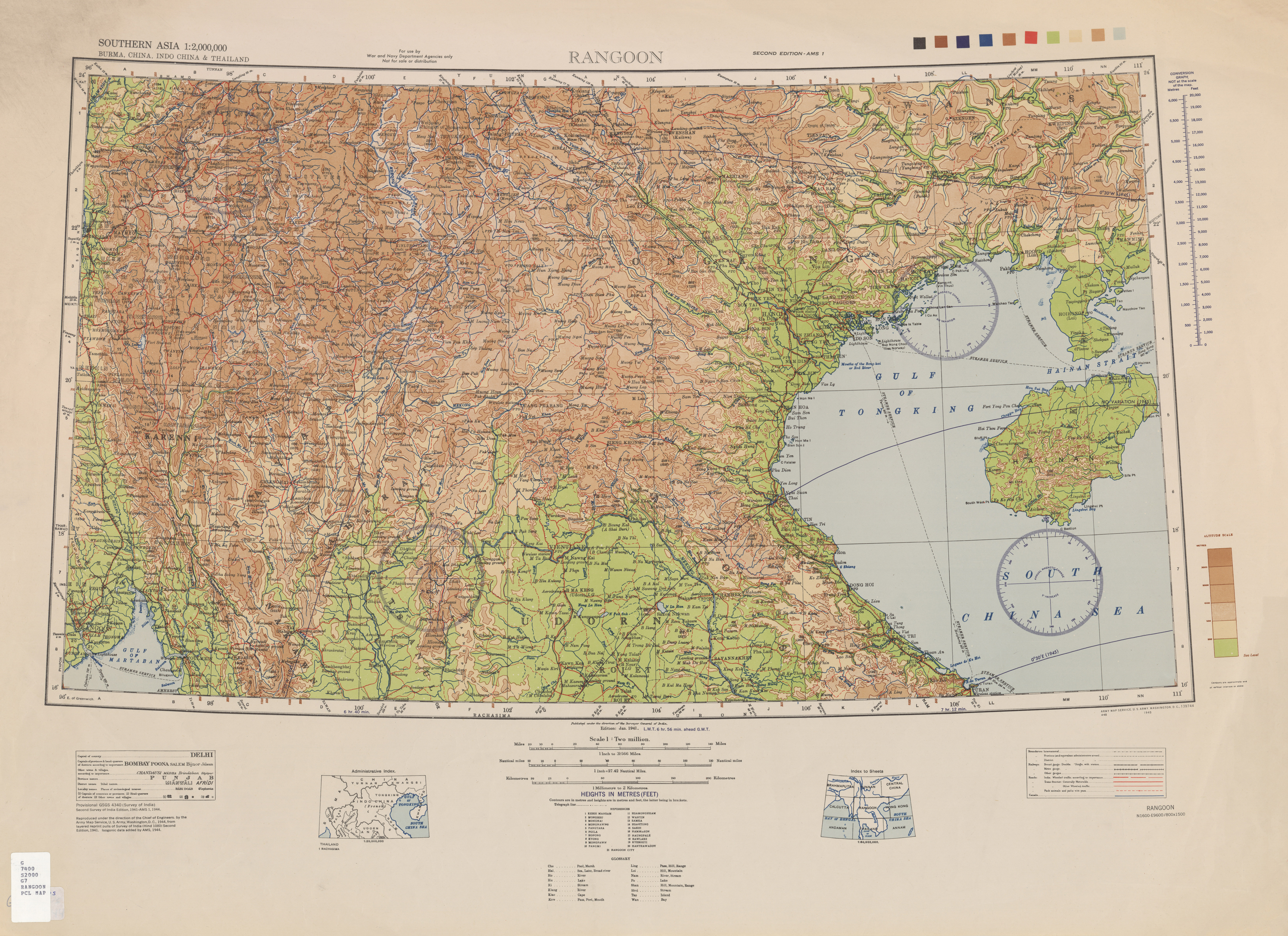 Southern Asia AMS Topographic Maps - Perry-Castañeda Map Collection ...