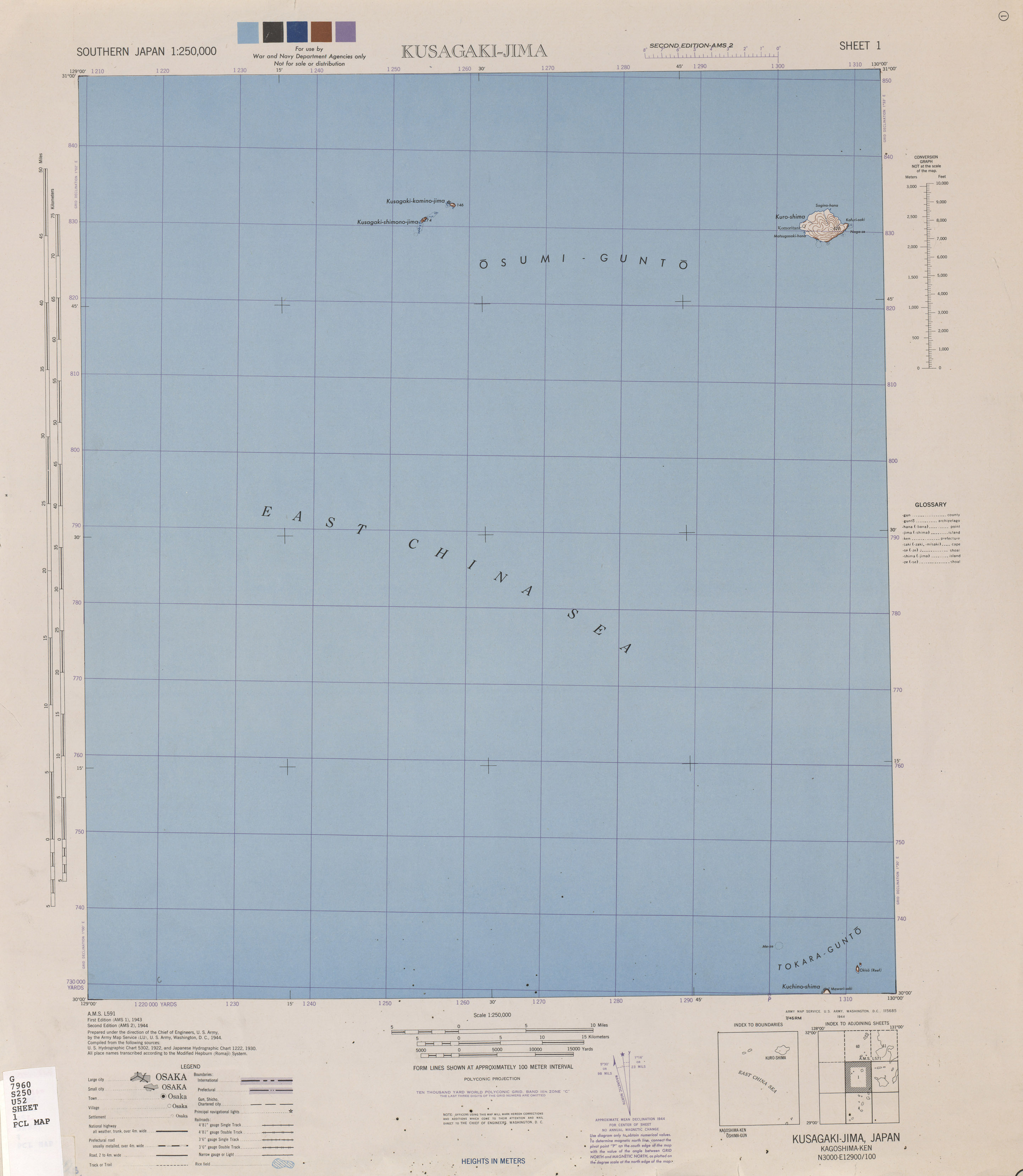 Southern Japan AMS Topographic Maps PerryCastañeda Map - Us 220 map