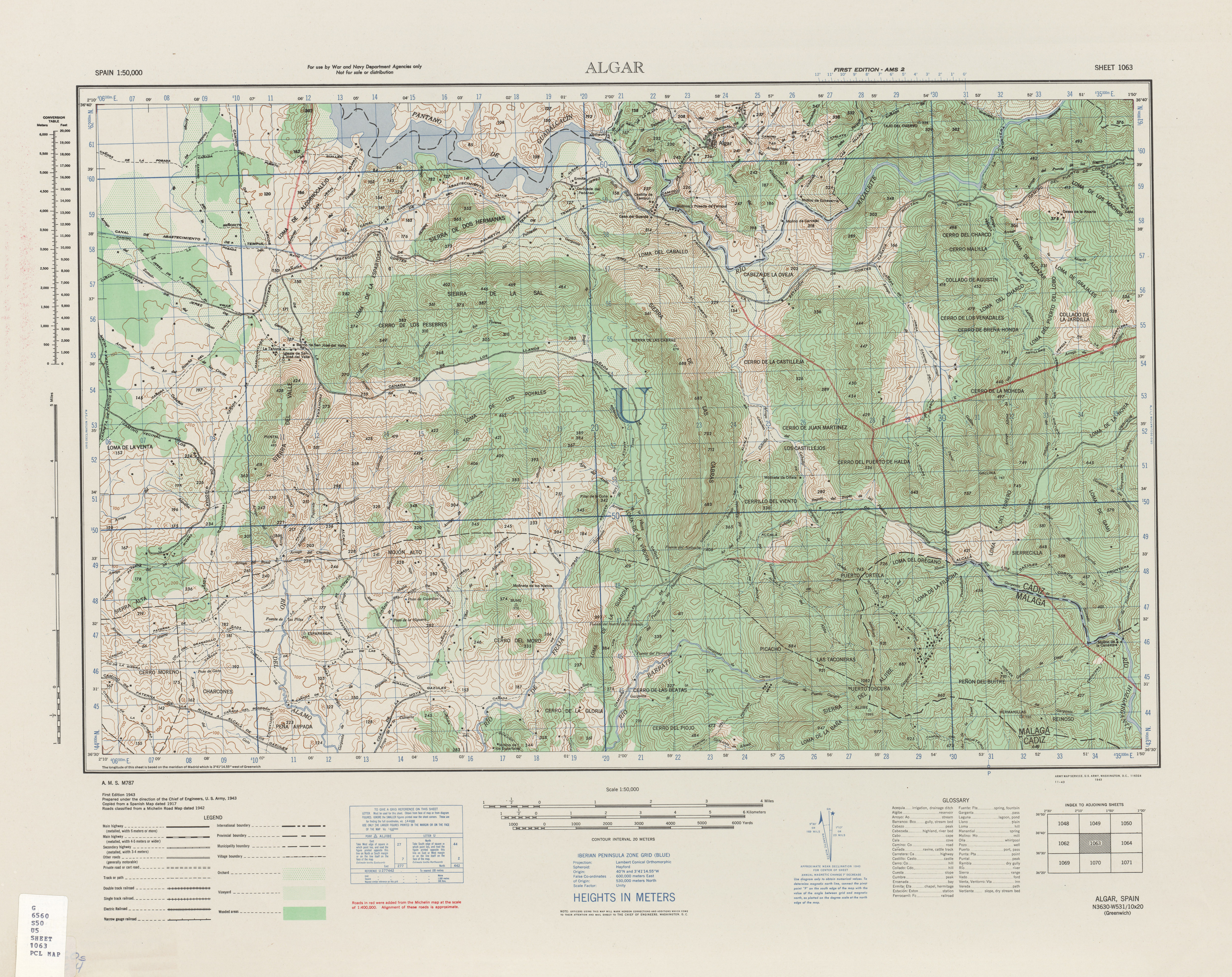 Topographical Map Of Spain.Spain Ams Topographic Maps Perry Castaa Eda Map Collection Ut