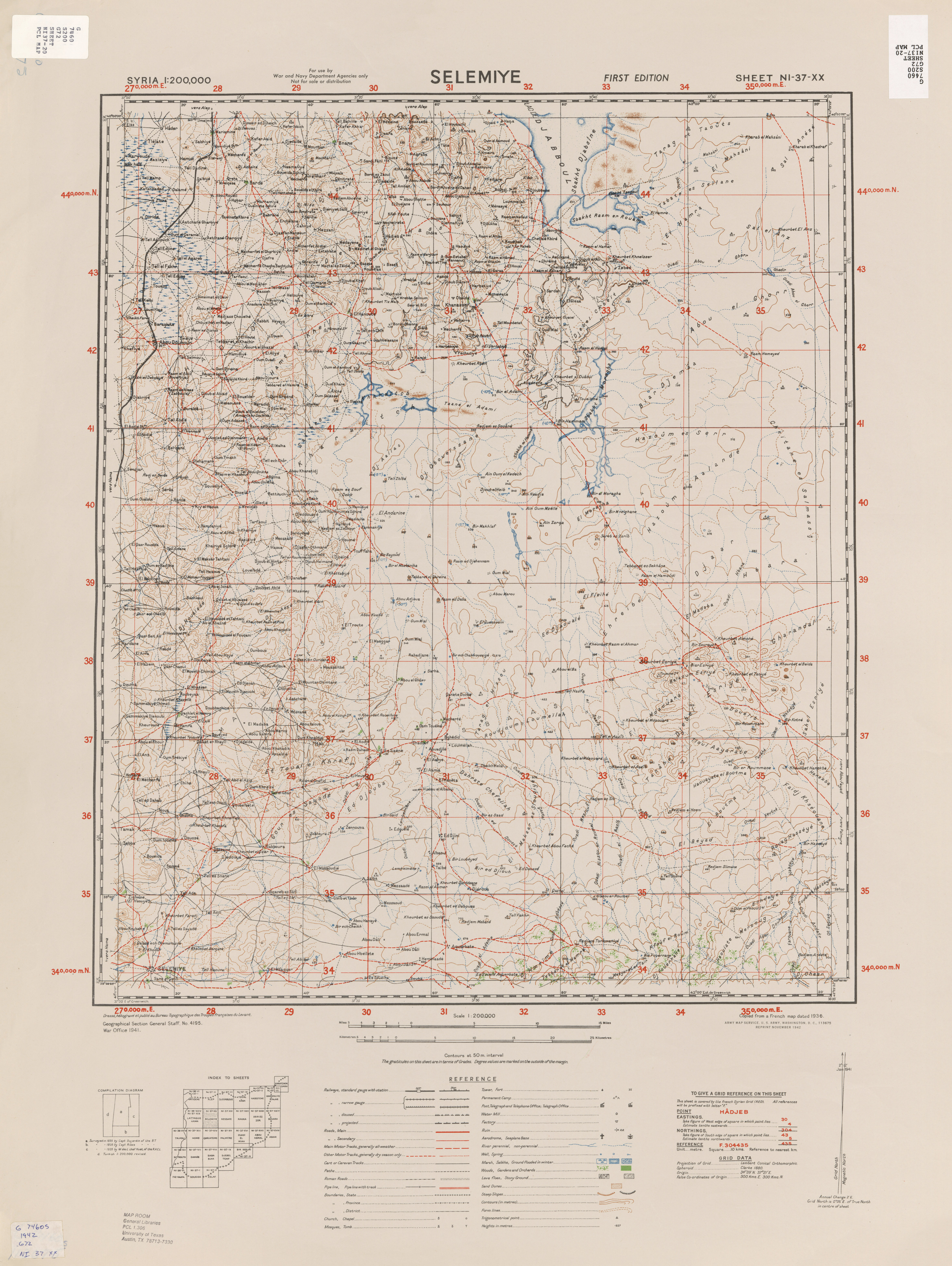 Syria AMS Topographic Maps - Perry-Castañeda Map Collection - UT ...