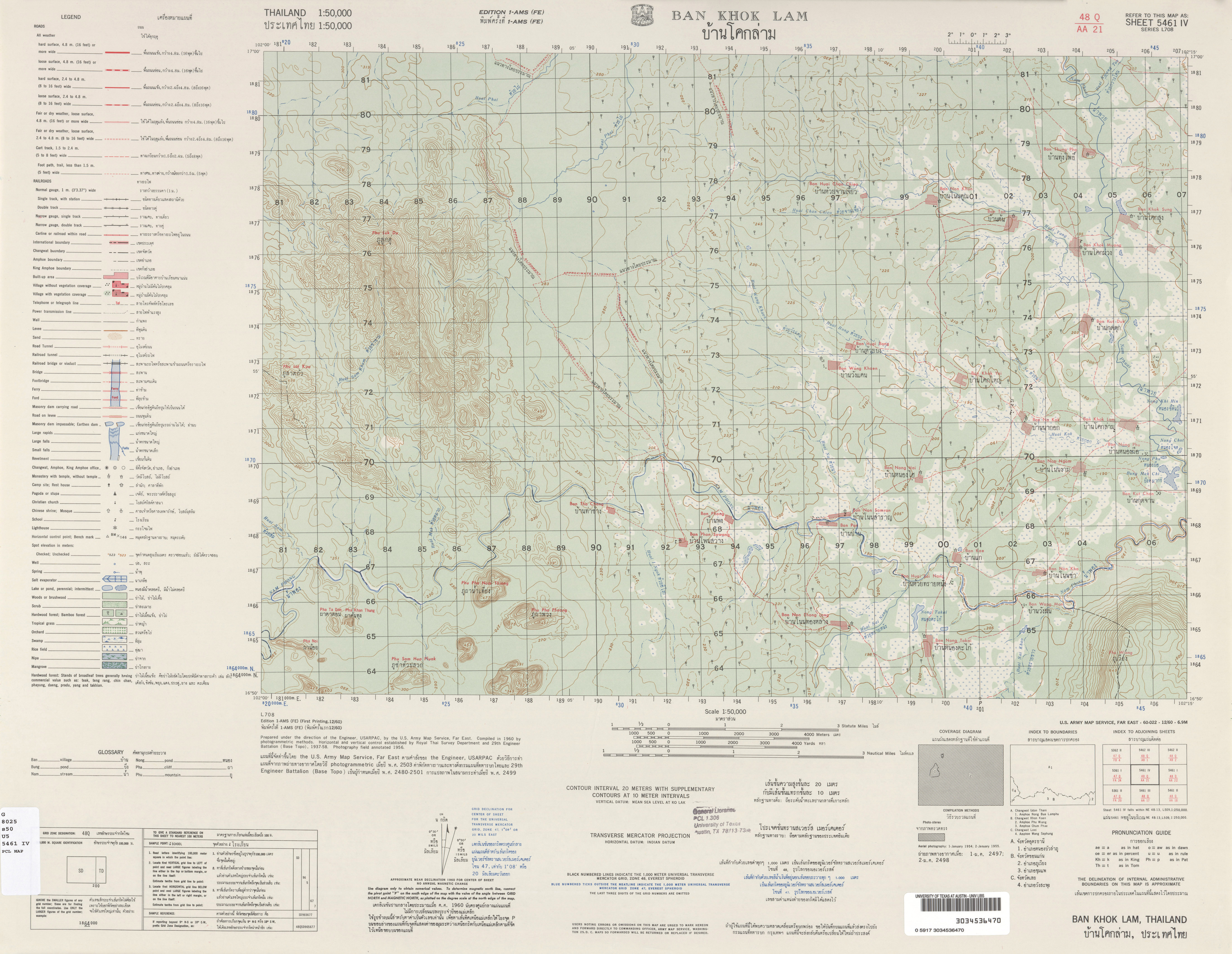 Thailand AMS Topographic Maps - Perry-Castañeda Map Collection - UT ...