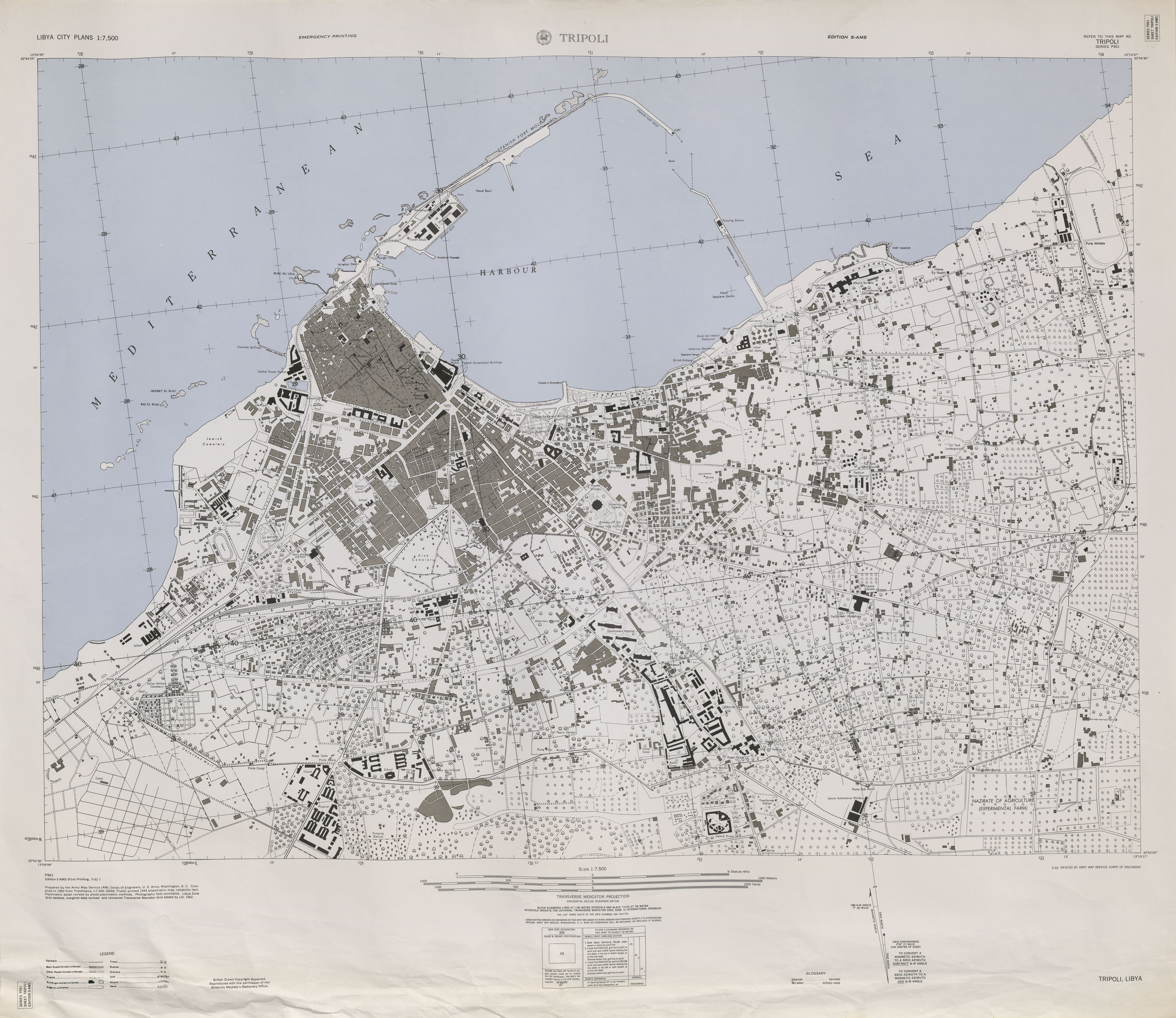 Libya Maps PerryCastañeda Map Collection UT Library Online - Us paper map thomas guide
