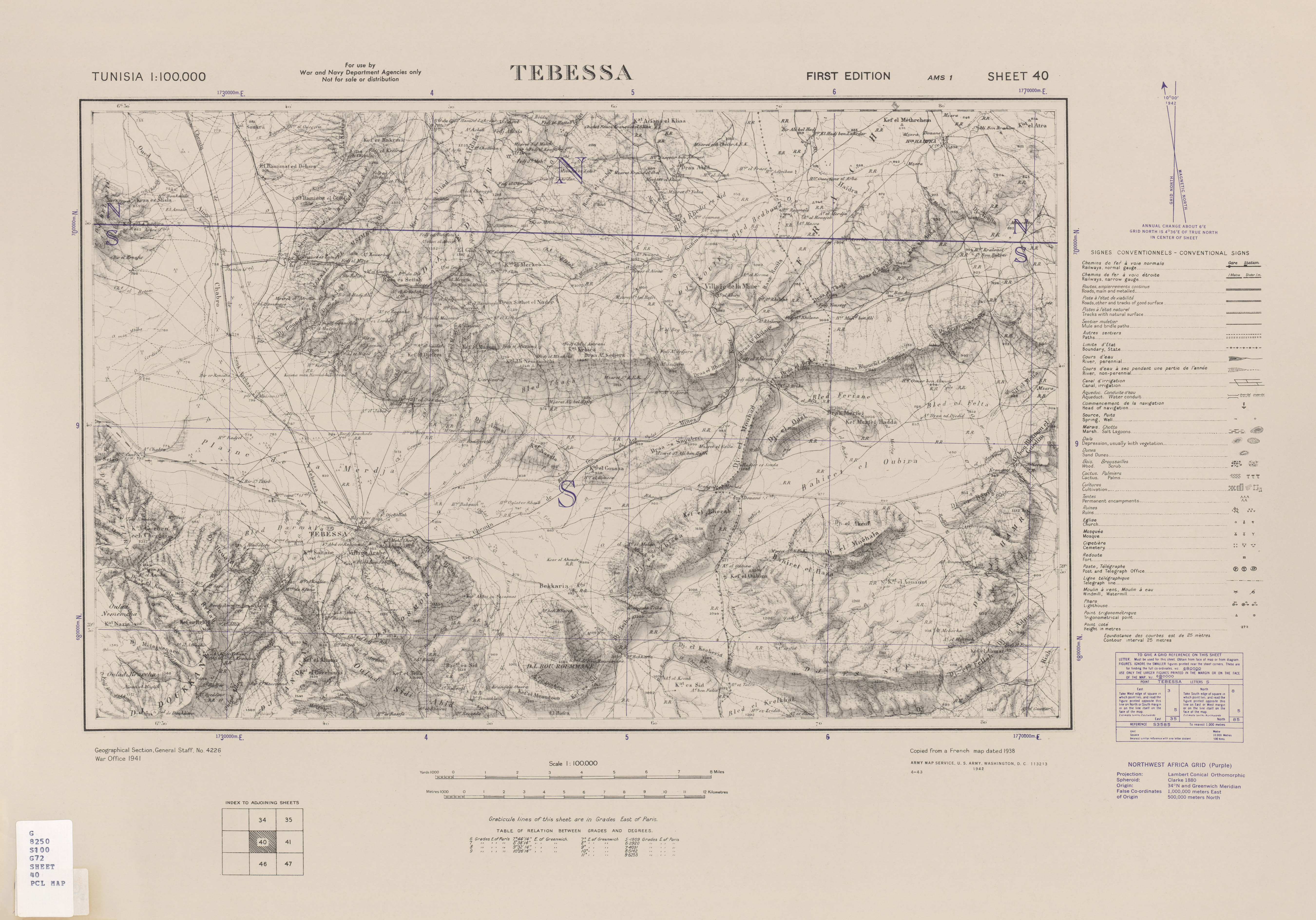 Tunisia AMS Topographic Maps PerryCastaeda Map Collection UT