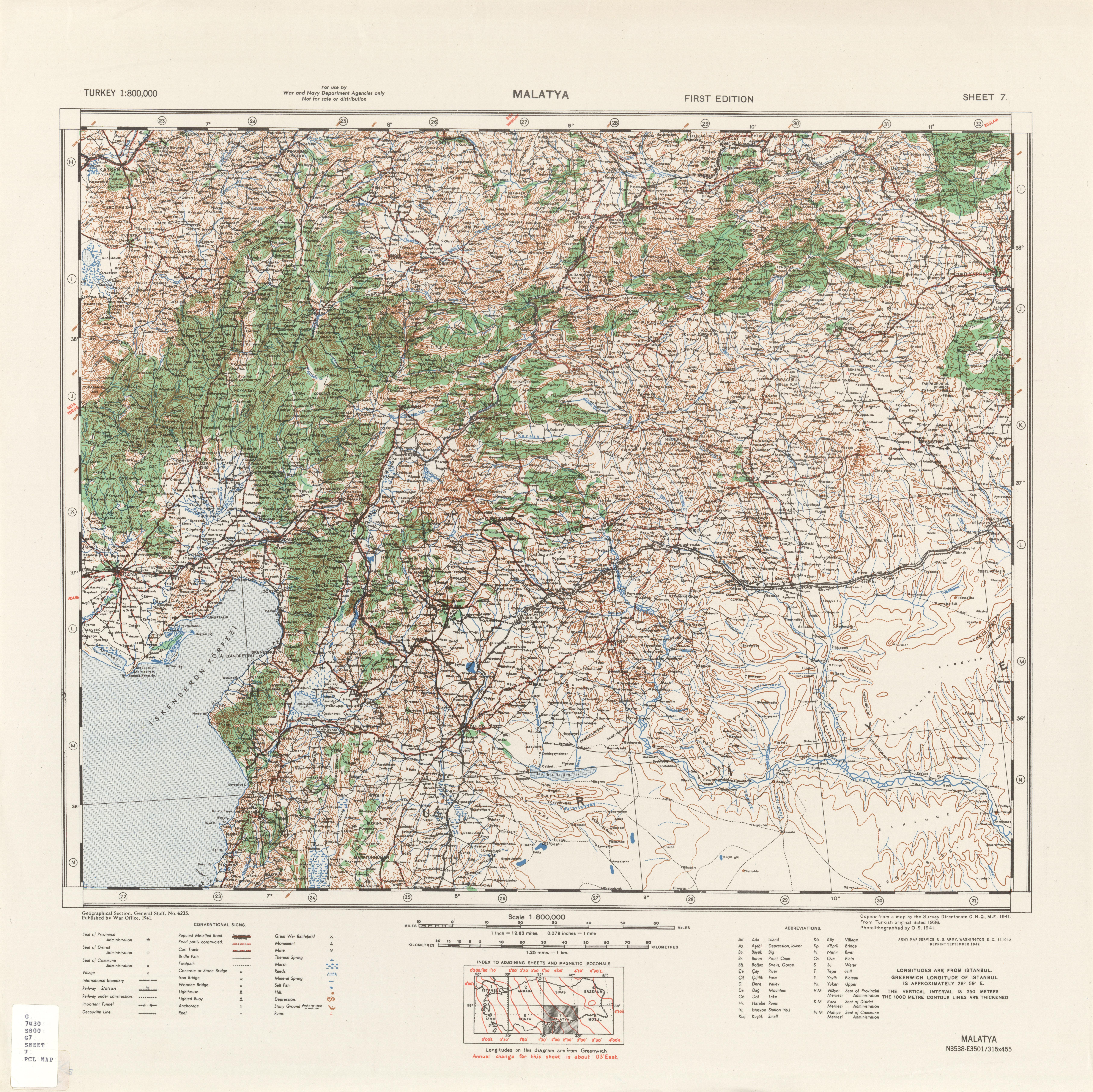 Turkey Topographic Maps PerryCastaeda Map Collection UT