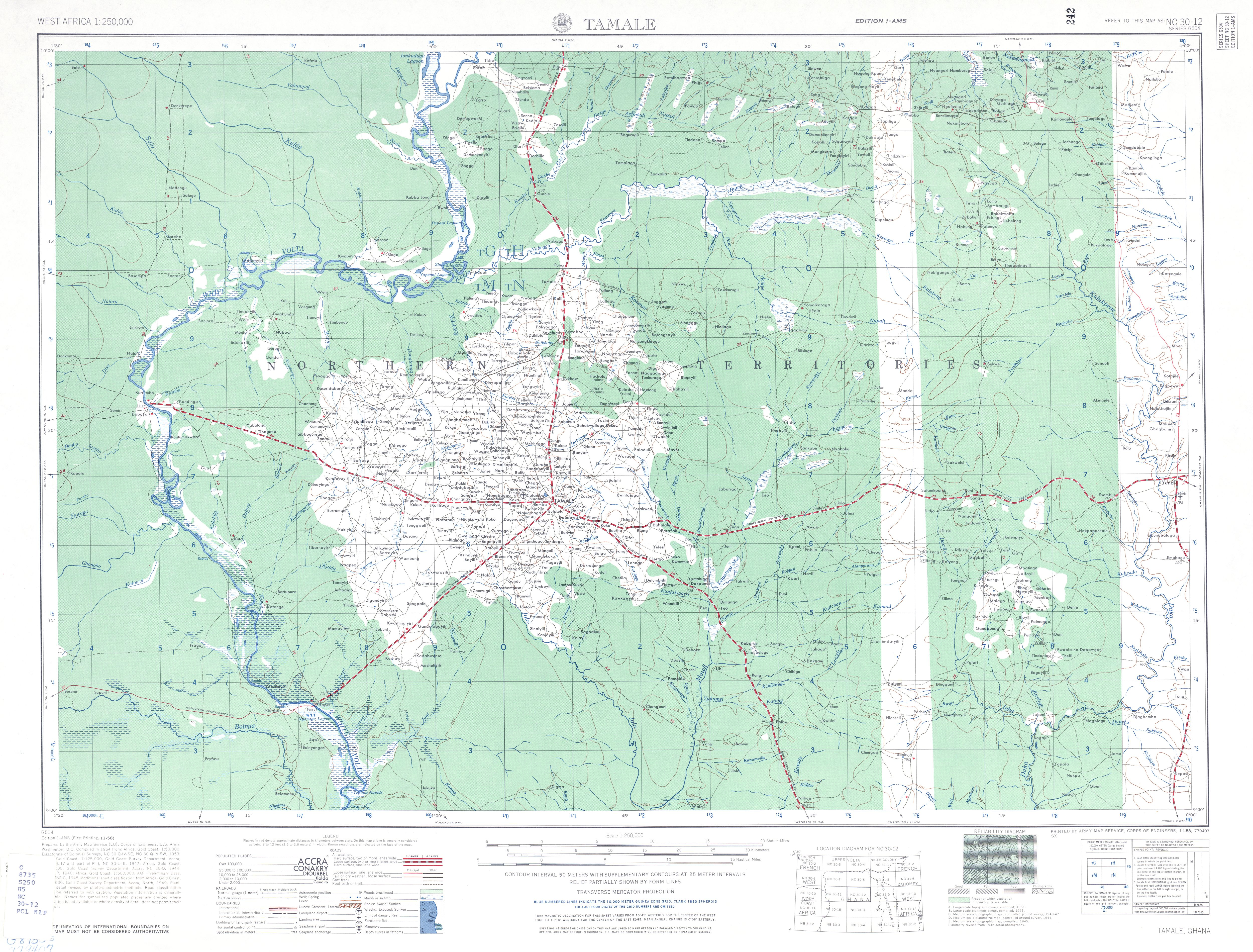 West Africa AMS Topographic Maps PerryCastaeda Map Collection