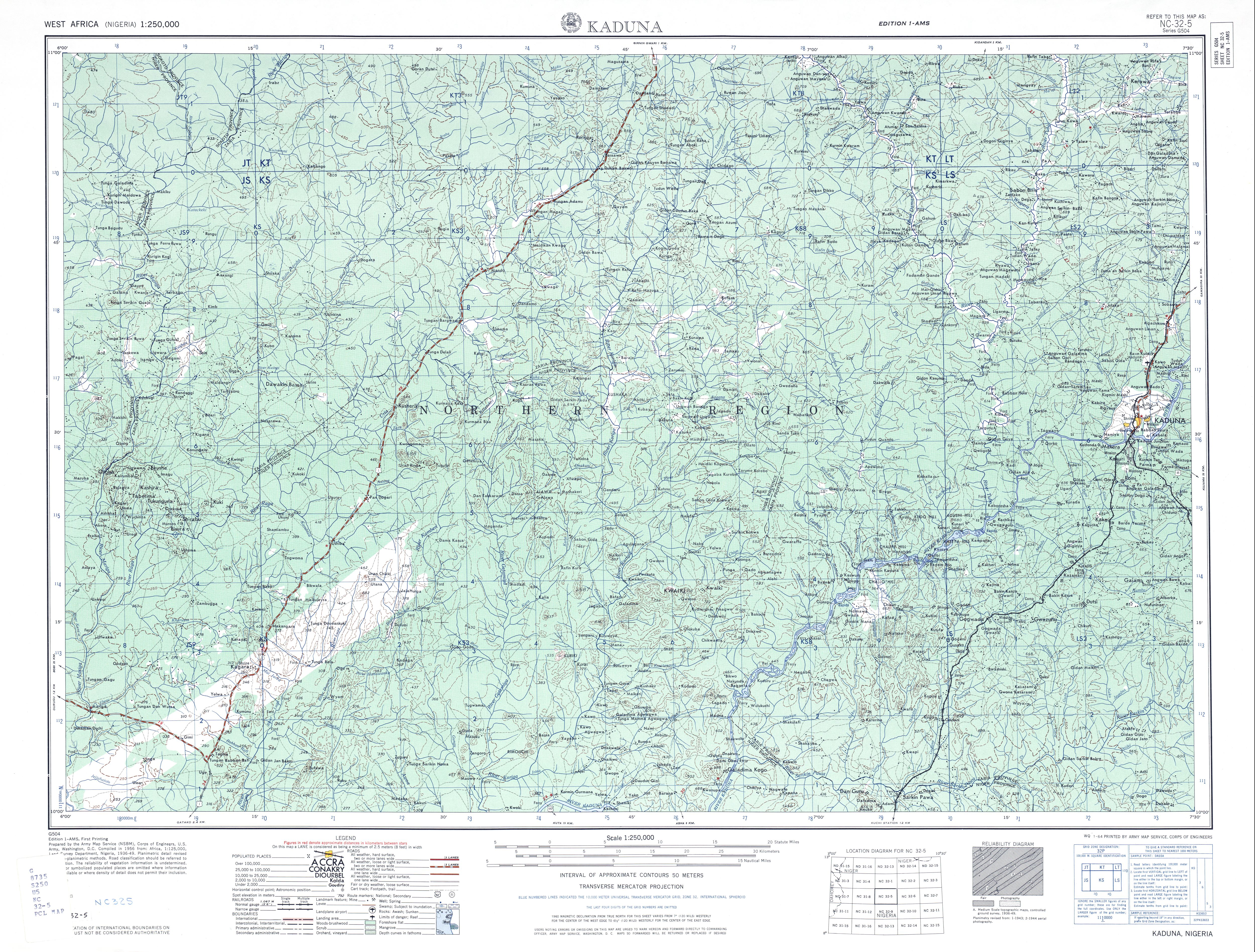 West Africa AMS Topographic Maps PerryCastañeda Map Collection - Topographic map free download