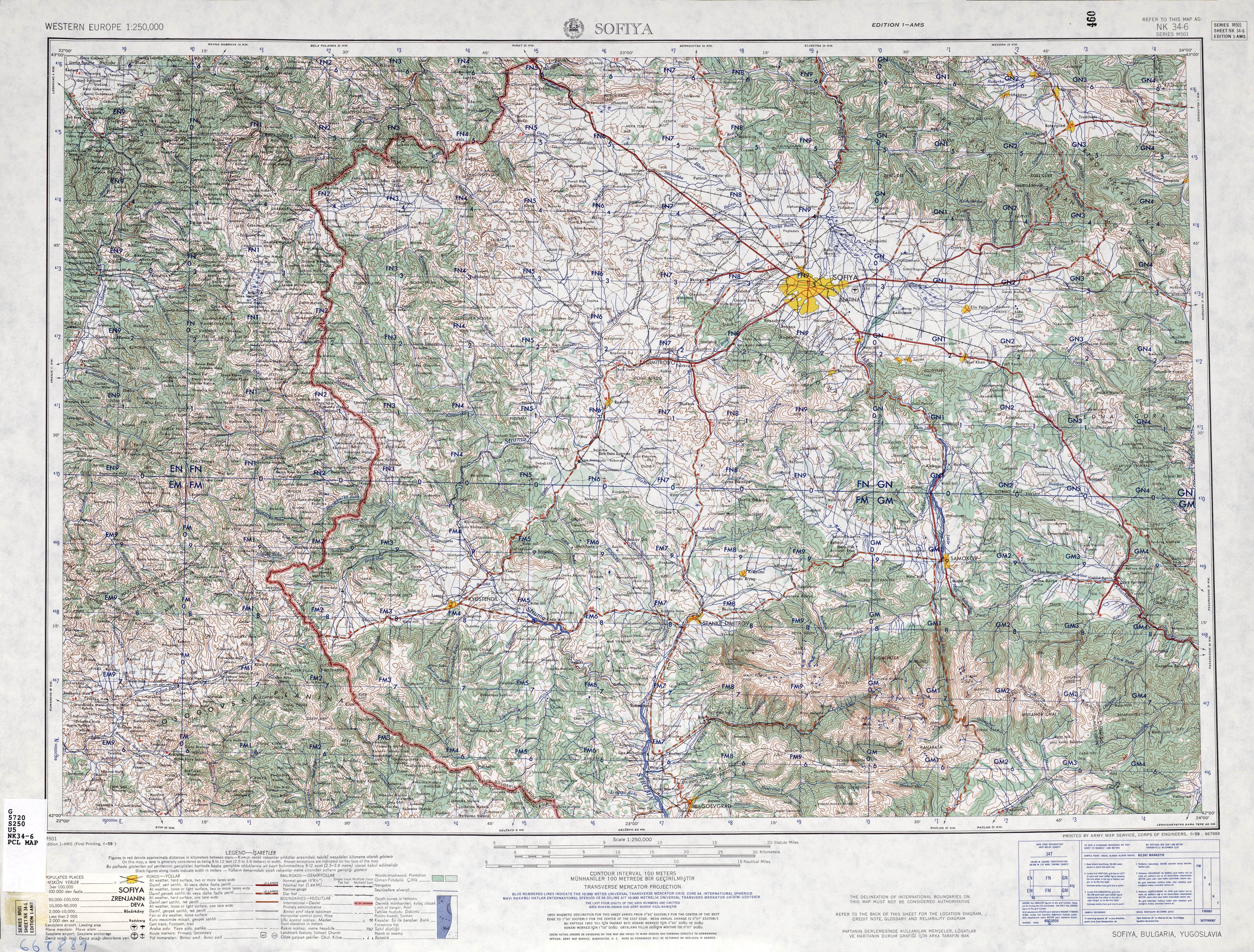Western Europe AMS Topographic Maps PerryCastaeda Map