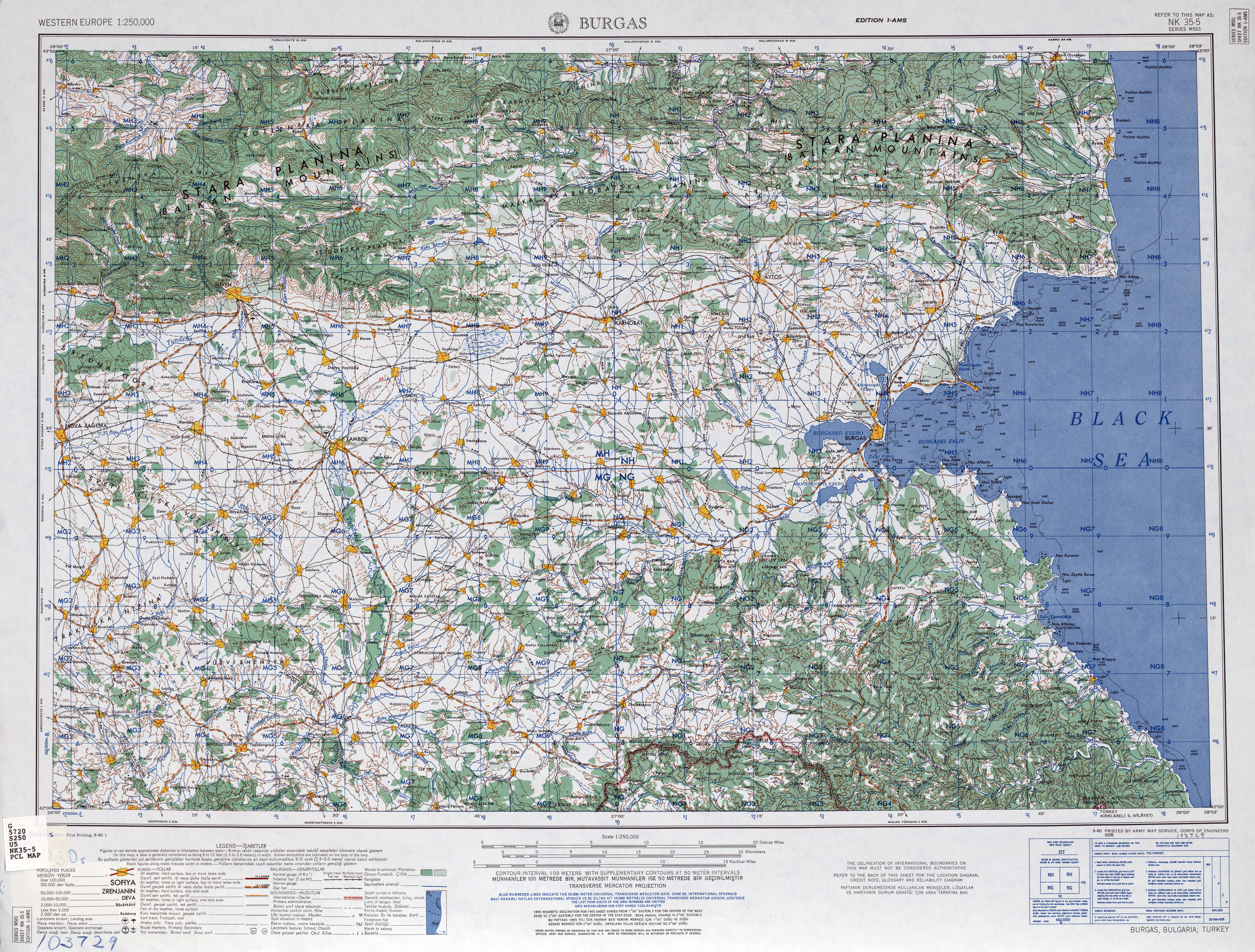 Western Europe AMS Topographic Maps PerryCastaeda Map Collection