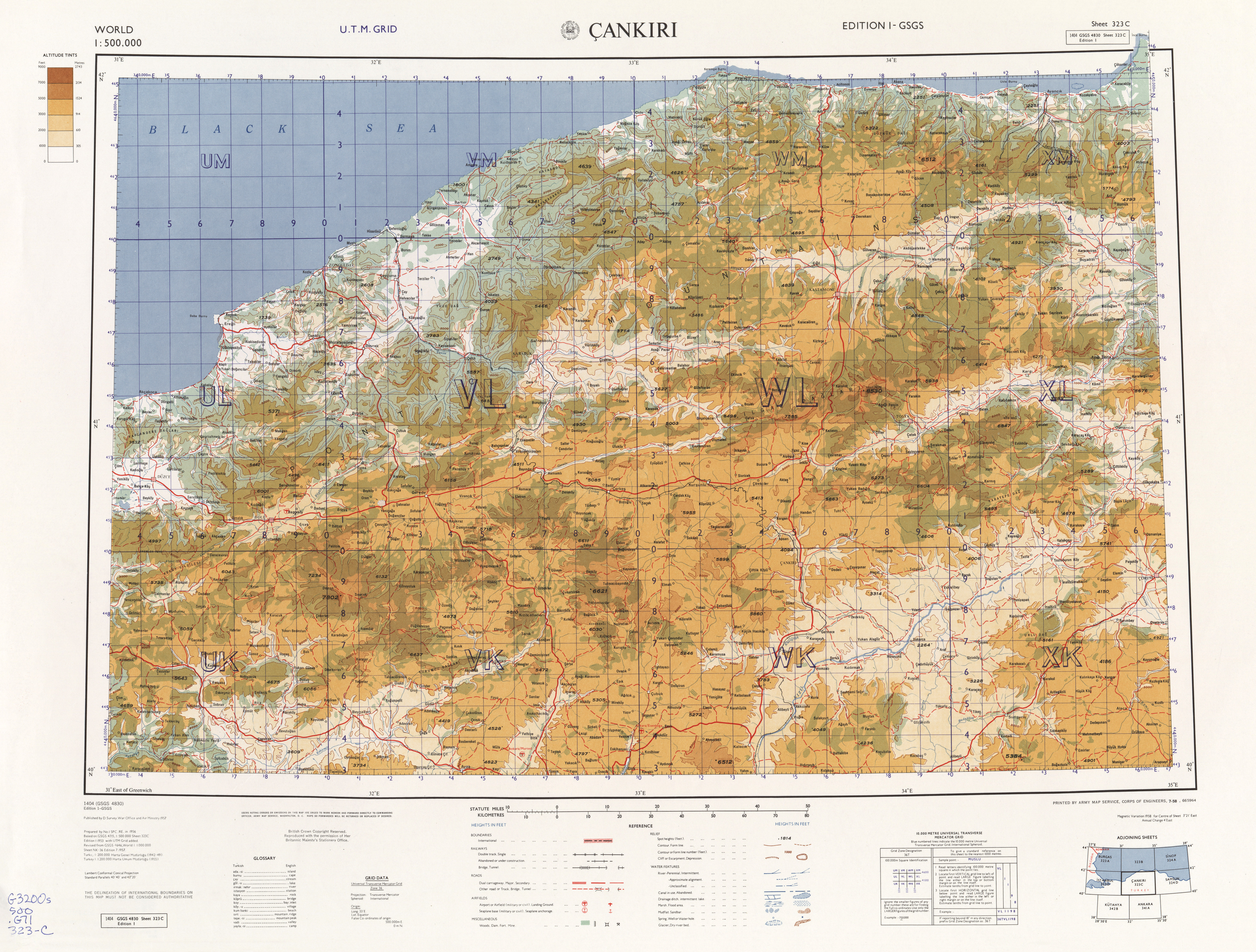 World AMS Topographic Maps PerryCastaeda Map Collection UT