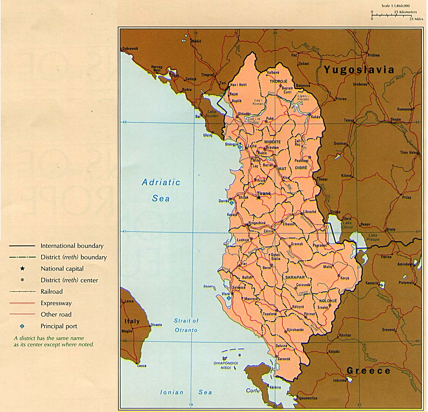 Albania Maps PerryCastañeda Map Collection UT Library Online - Political map of albania