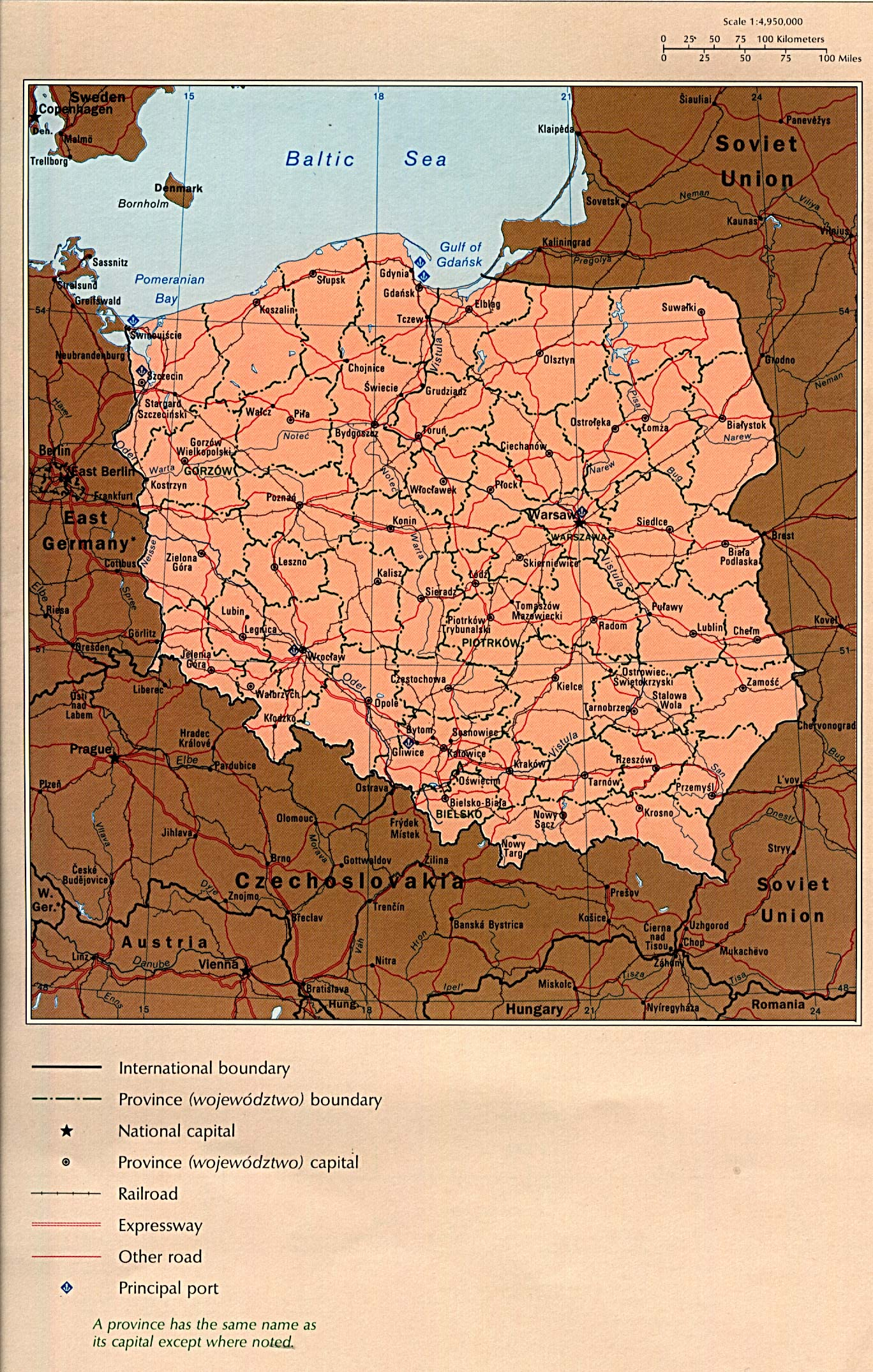 1up Travel Maps Of Poland Country Map 782k