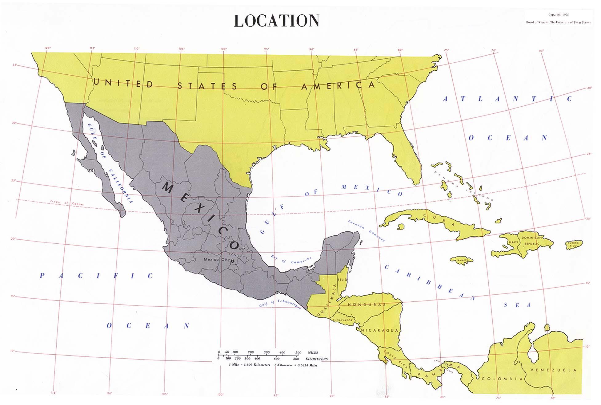 Atlas Of Mexico PerryCastañeda Map Collection UT Library Online - Mapas de texas