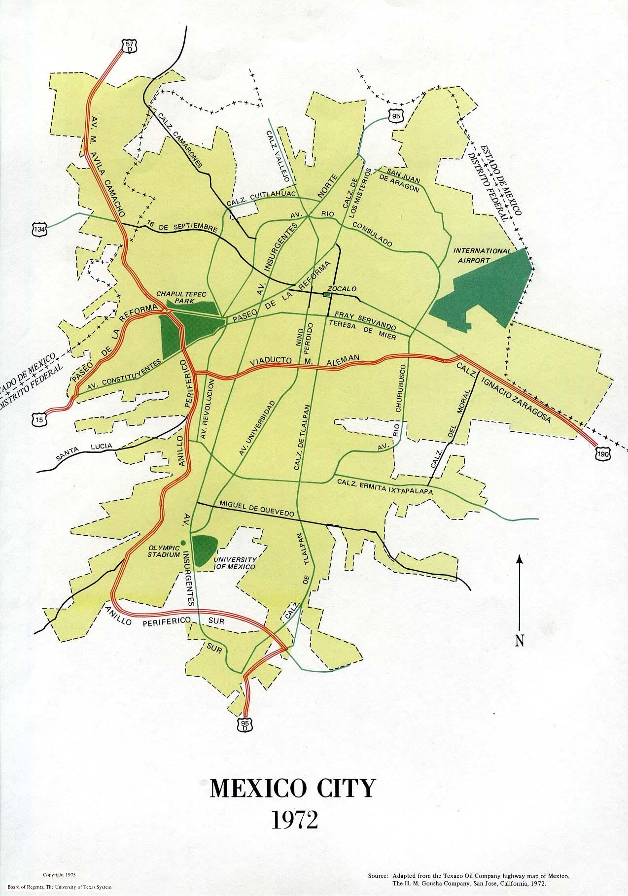 Atlas Of Mexico PerryCastañeda Map Collection UT Library Online - Major cities map of mexico