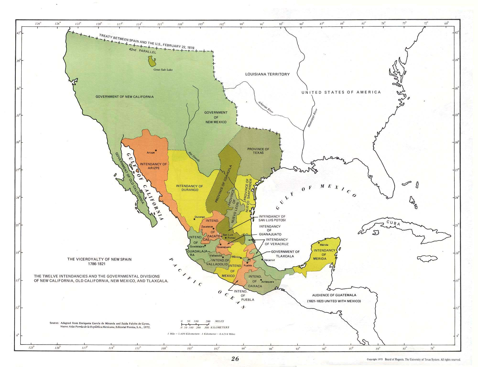 the viceroyalty of new spain 1786 1821