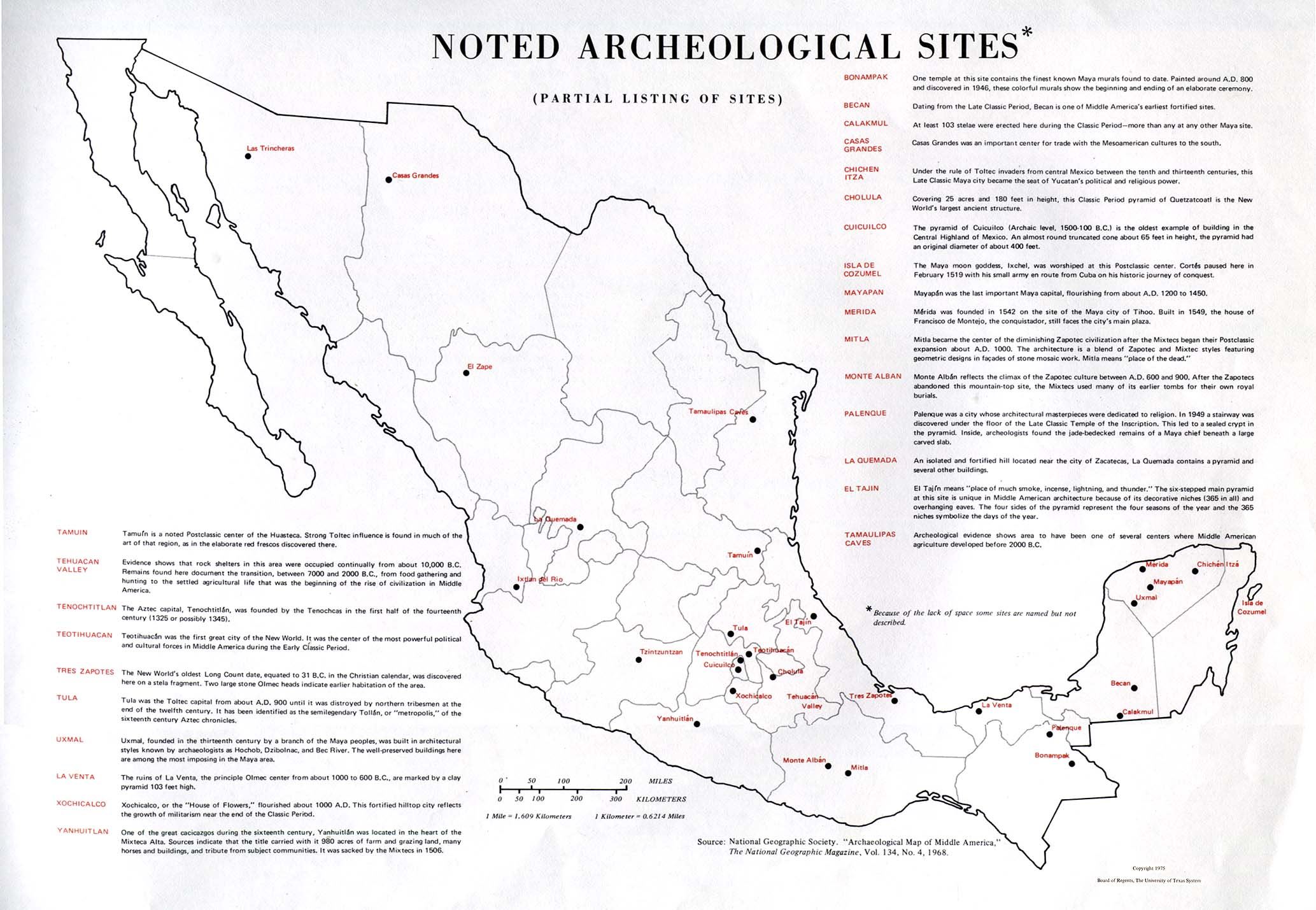 noted archeological sites 326k mexico