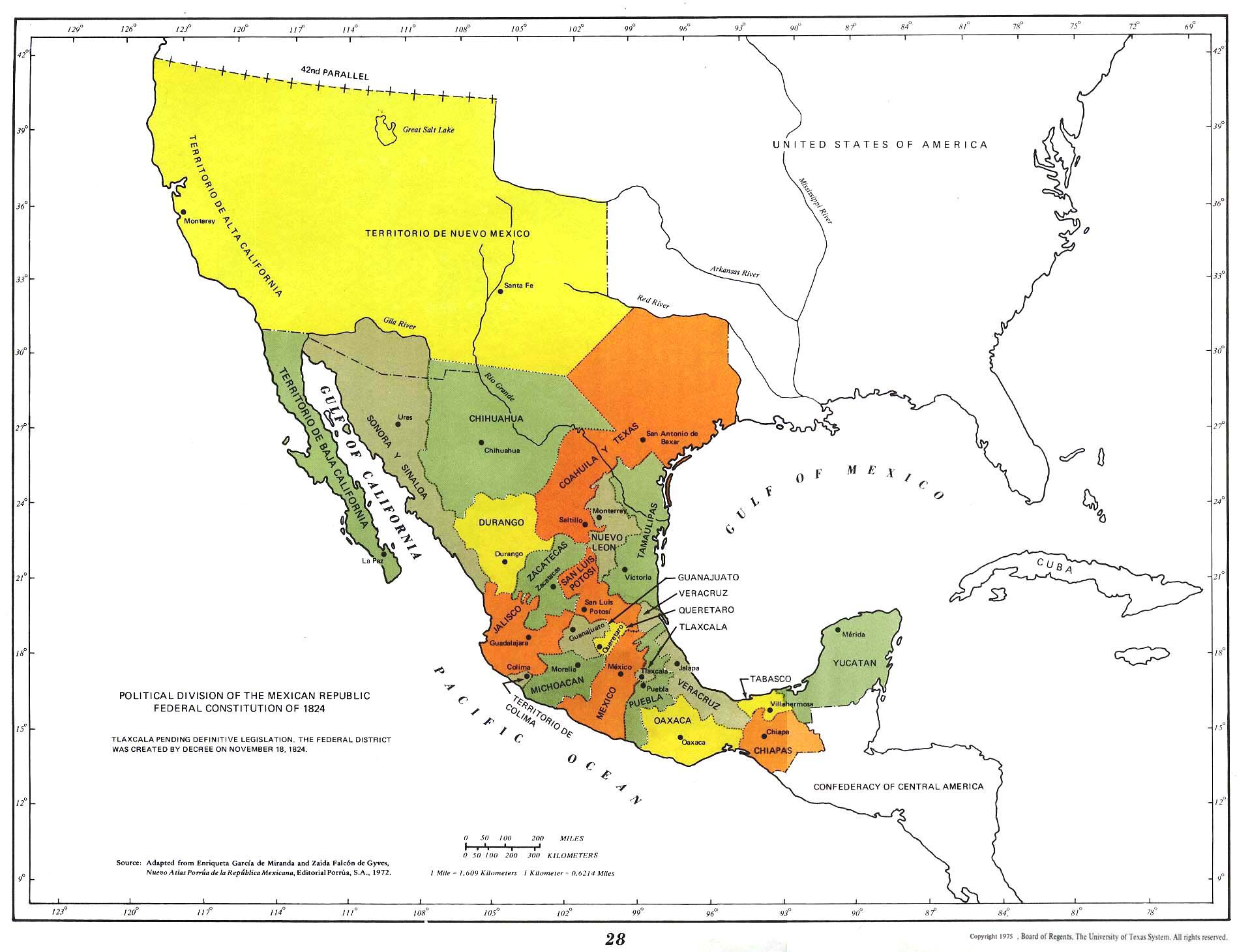 Mexico Maps PerryCasta eda Map Collection UT Library Online – Mexico in the Map