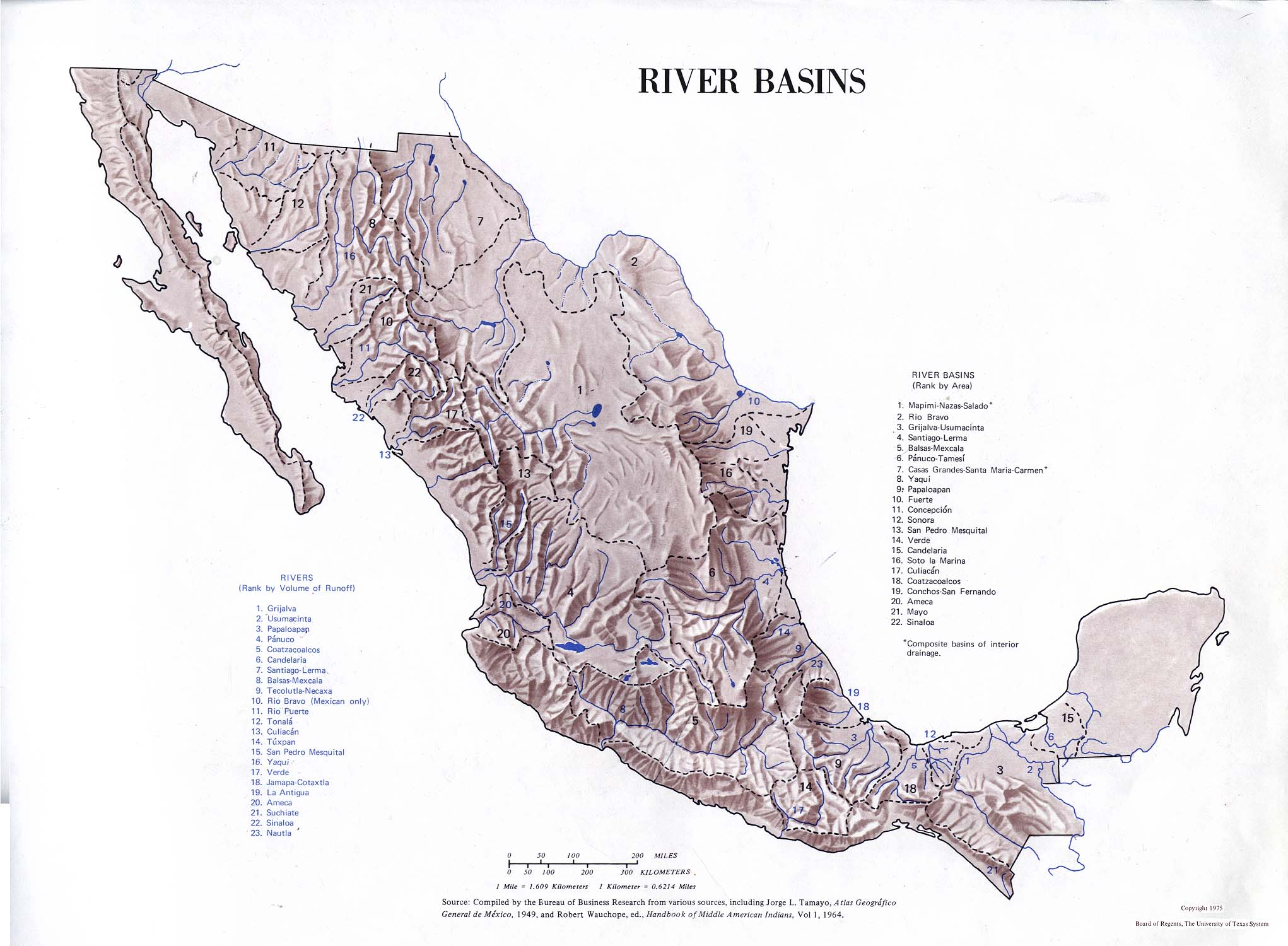 Mexico Maps PerryCastañeda Map Collection UT Library Online - 5 major us rivers map