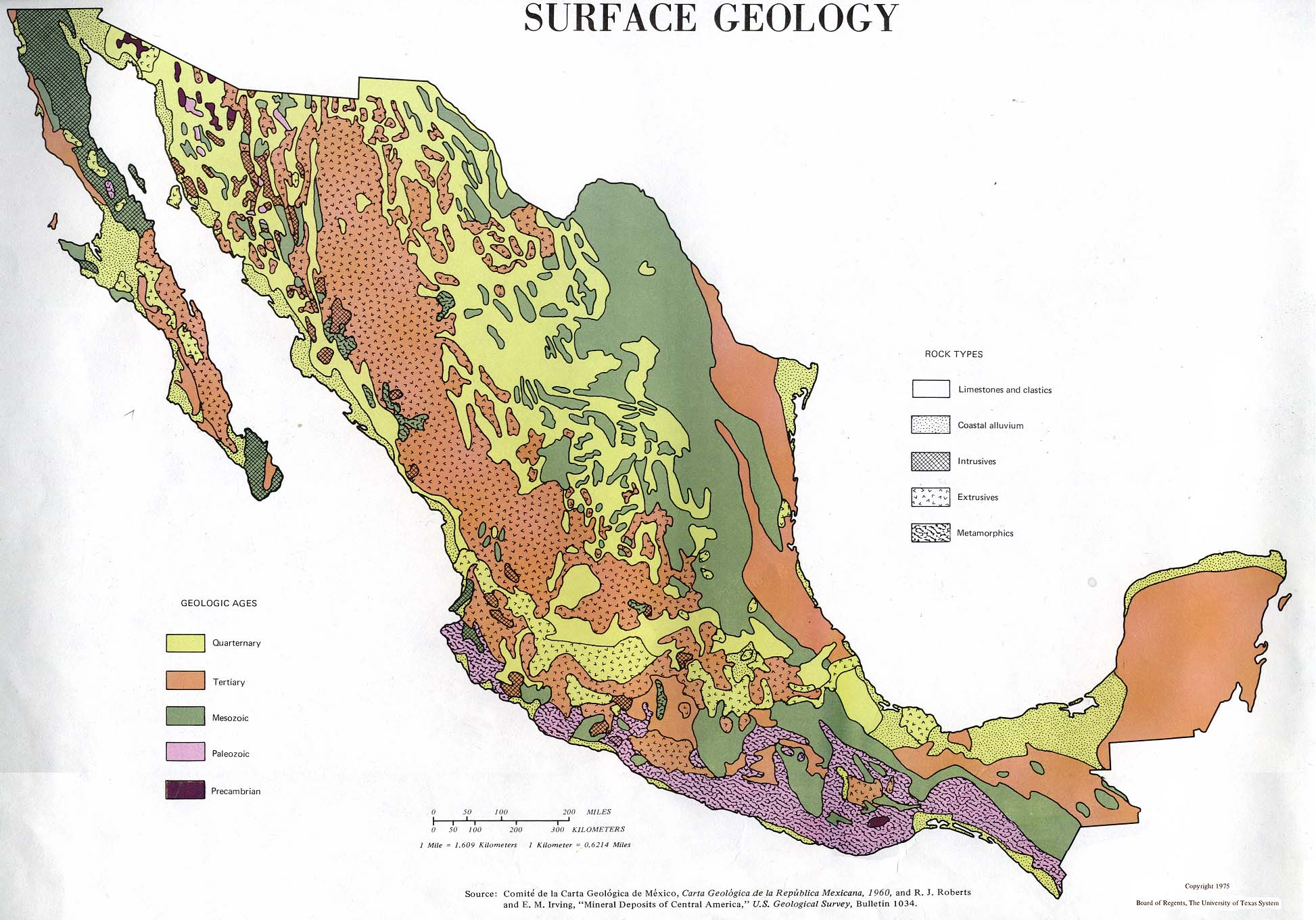 mexico surface geology